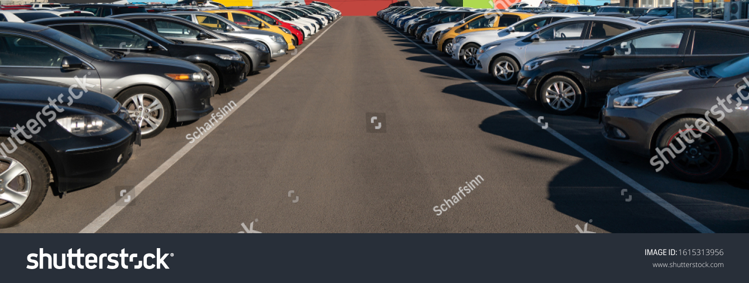 Cars in a rows. Used car sales #1615313956