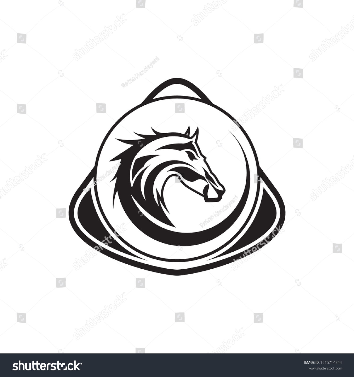 Horse Tattoo Designs Men Stock Vector Royalty Free 1615714744