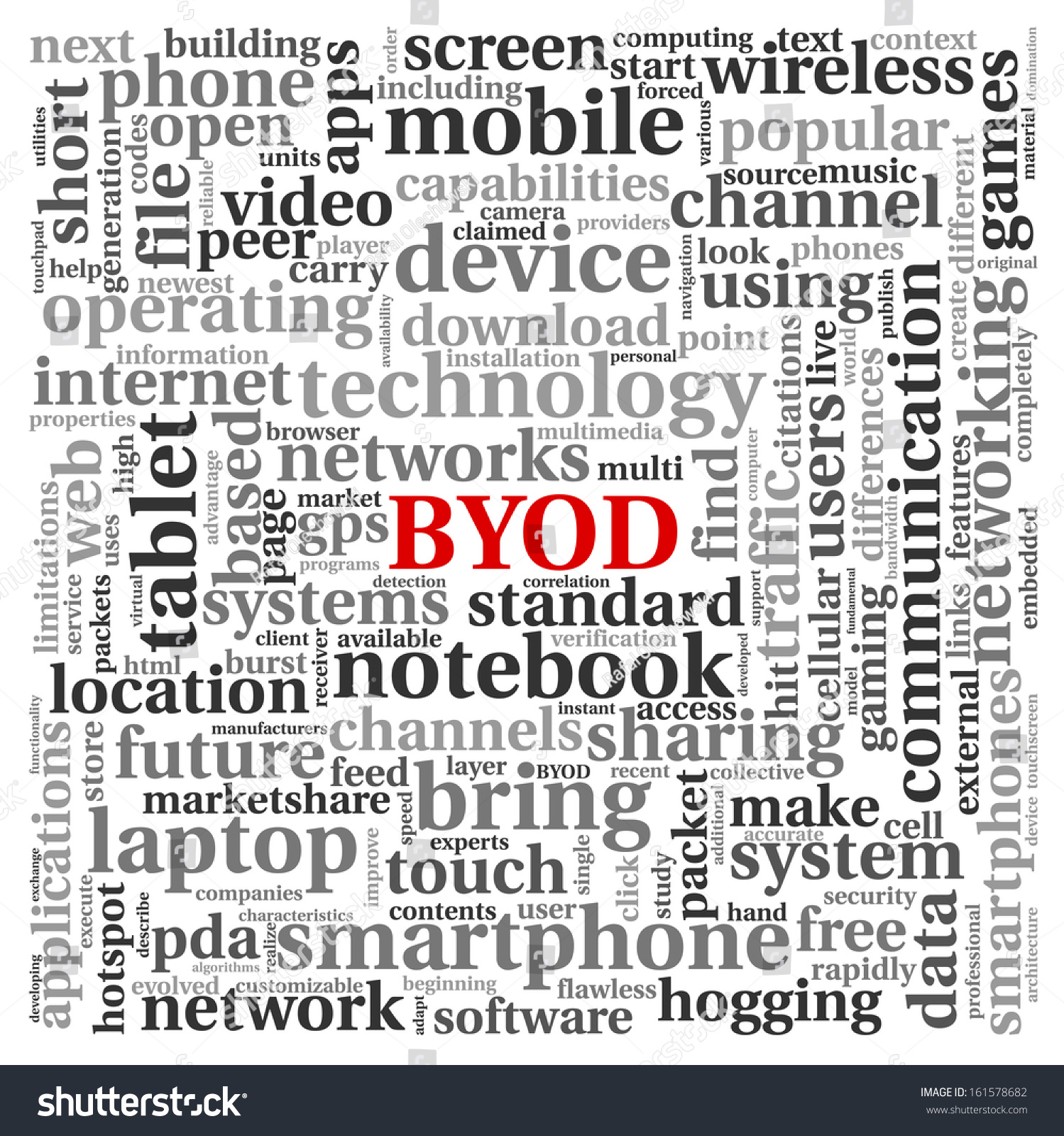 BYOD Bring Your Own Device Concept Stock Illustration