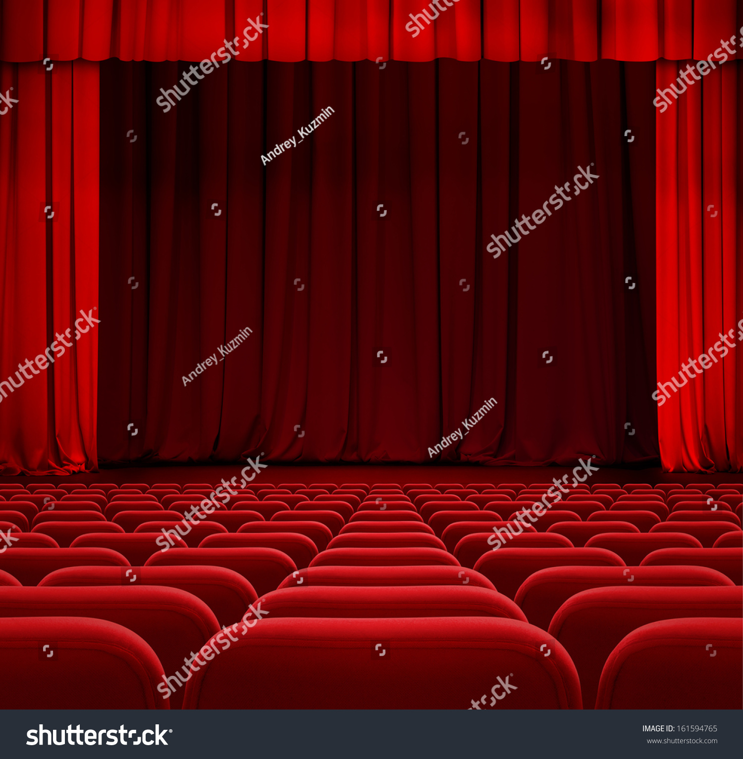 Closed theater curtains - Theater Or Cinema Curtain Or Drapes With Red Seats