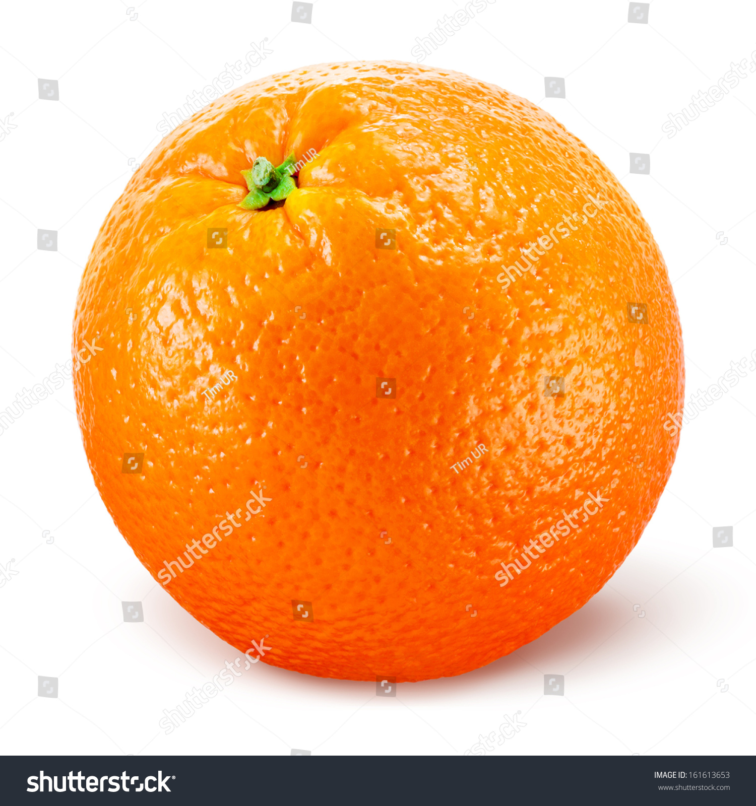 Orange Fruit Isolated On White Stock Photo 161613653 ...