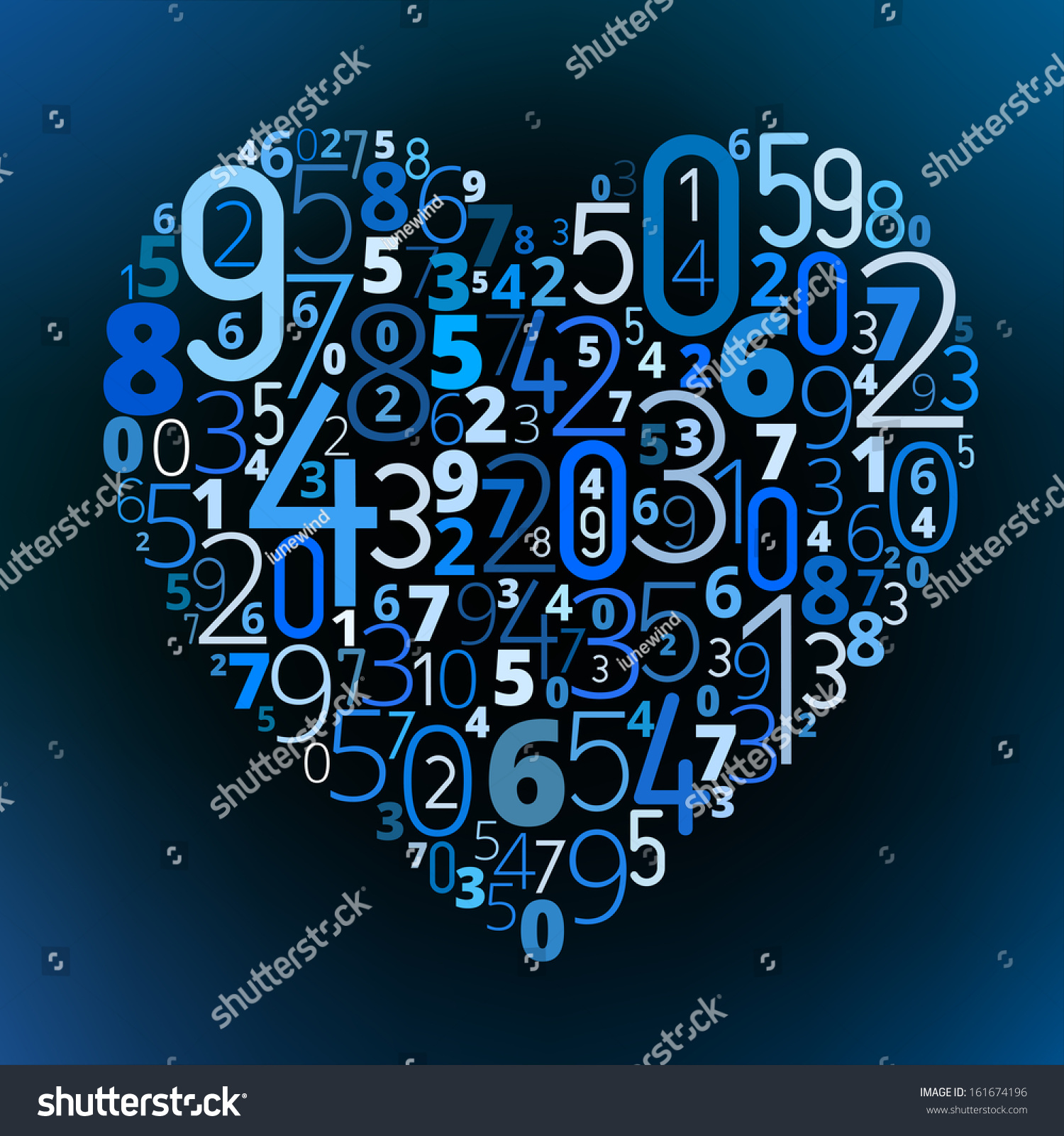 Heart shape different numbers vector love stock vector 161674196 heart shape from different numbers vector love math symbol formula symbol buycottarizona