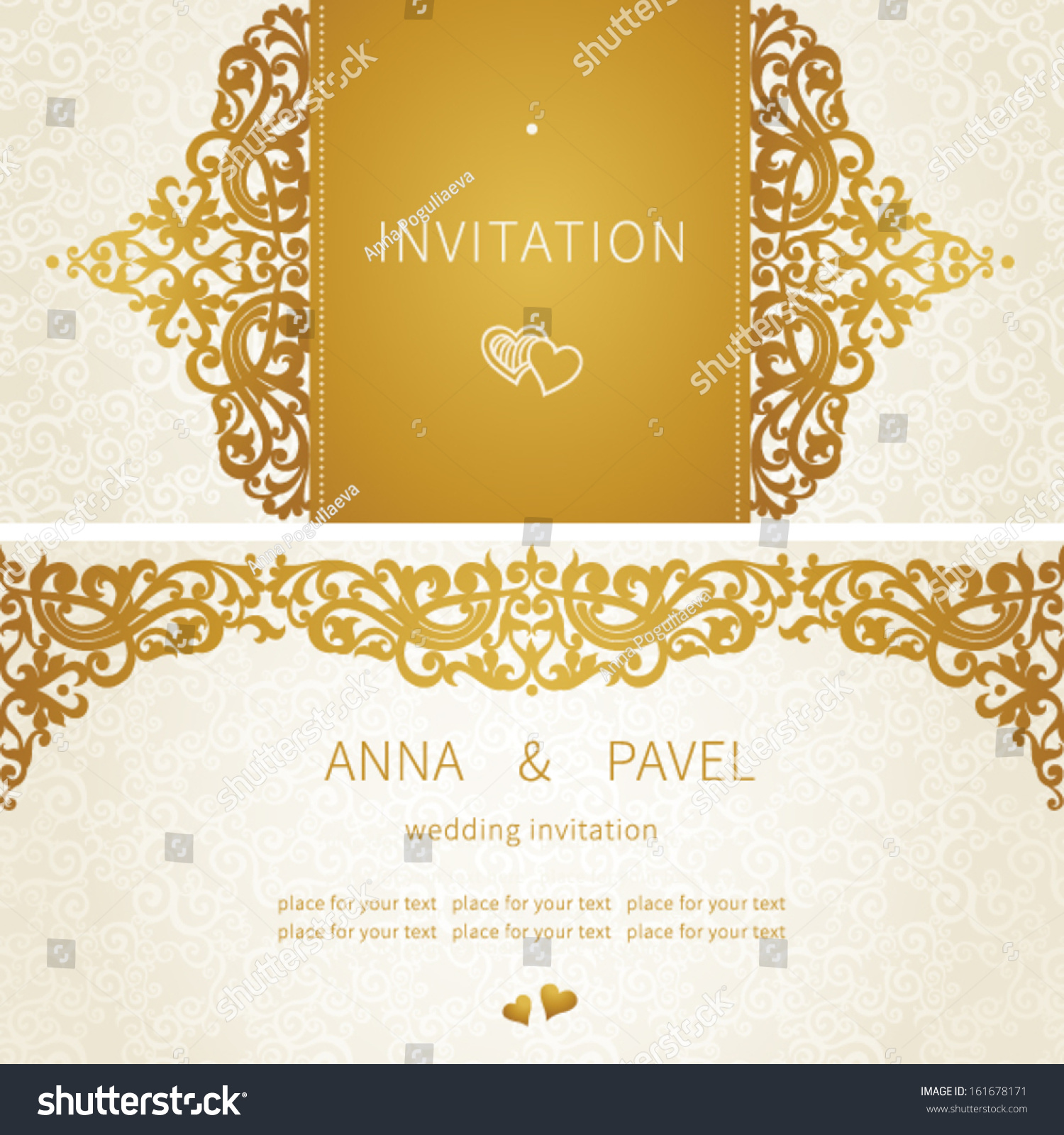 Vintage Greeting Cards Floral Motifs East Stock Vector Royalty Free