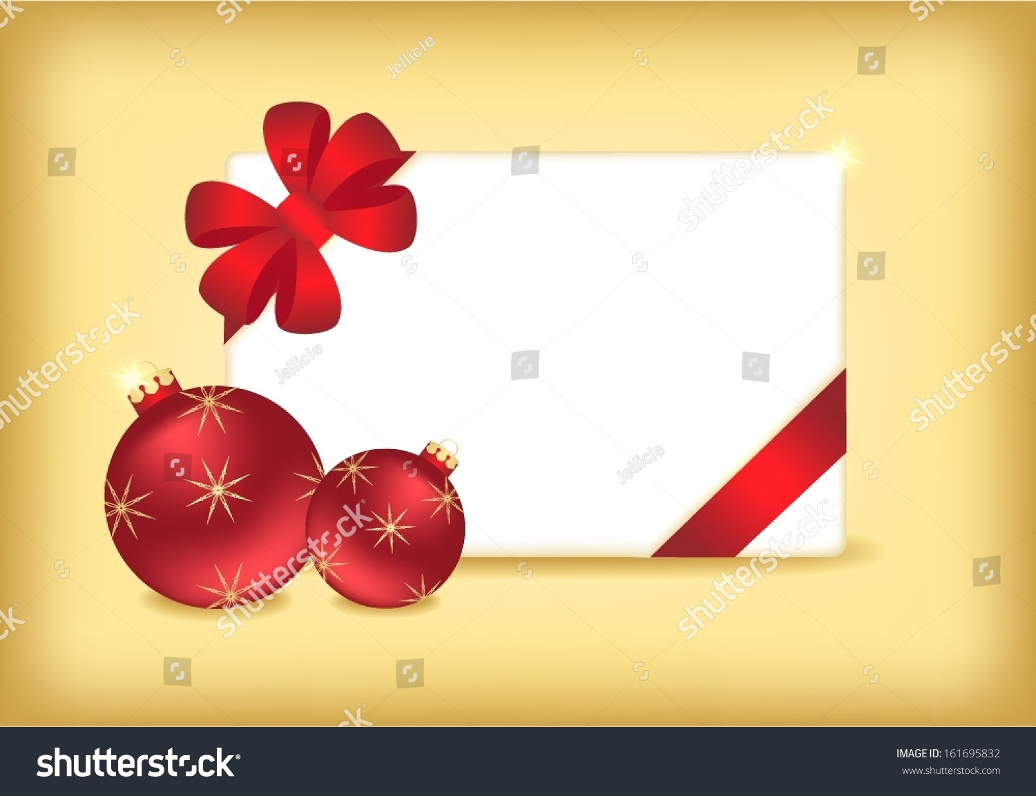 red christmas balls blank invitation card stock vector 161695832 red christmas balls and blank invitation card over gold background