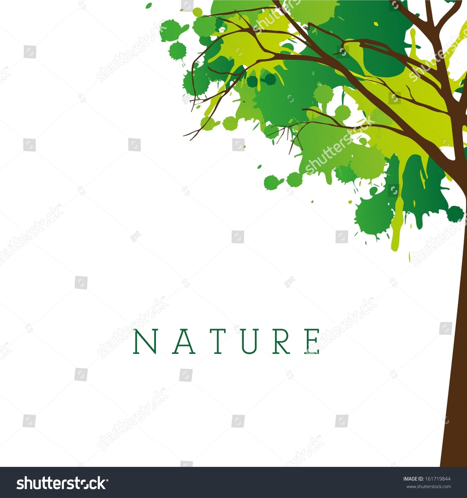 nature design over white background vector stock vector royalty
