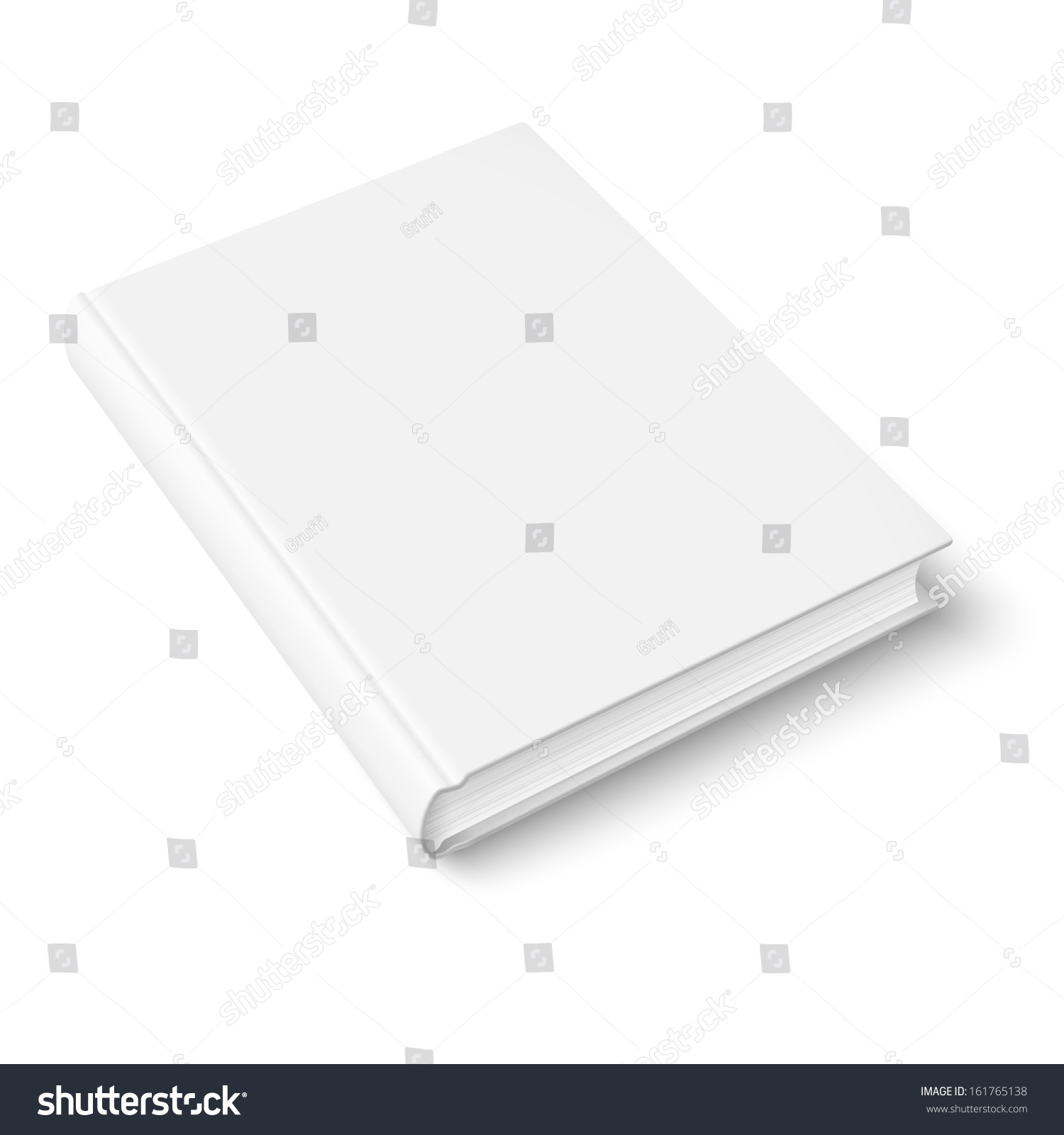 Blank Book Cover Vector Template ~ Blank book cover template on white stock vector