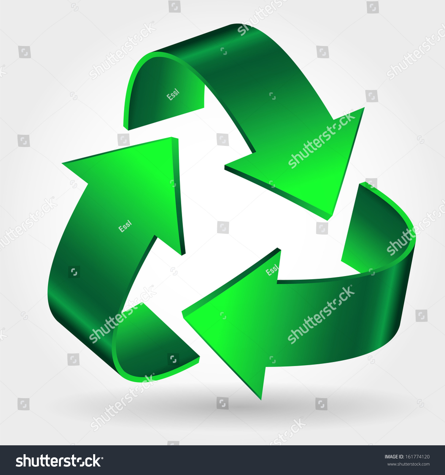 Recycle Symbol Icon Green Arrows Sign Stock Illustration 161774120