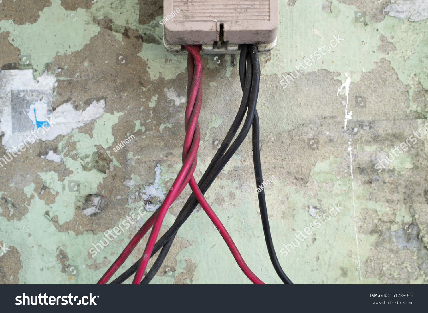 Electric Wire Connect Cut Out Stock Photo (Safe to Use) 161788046 ...
