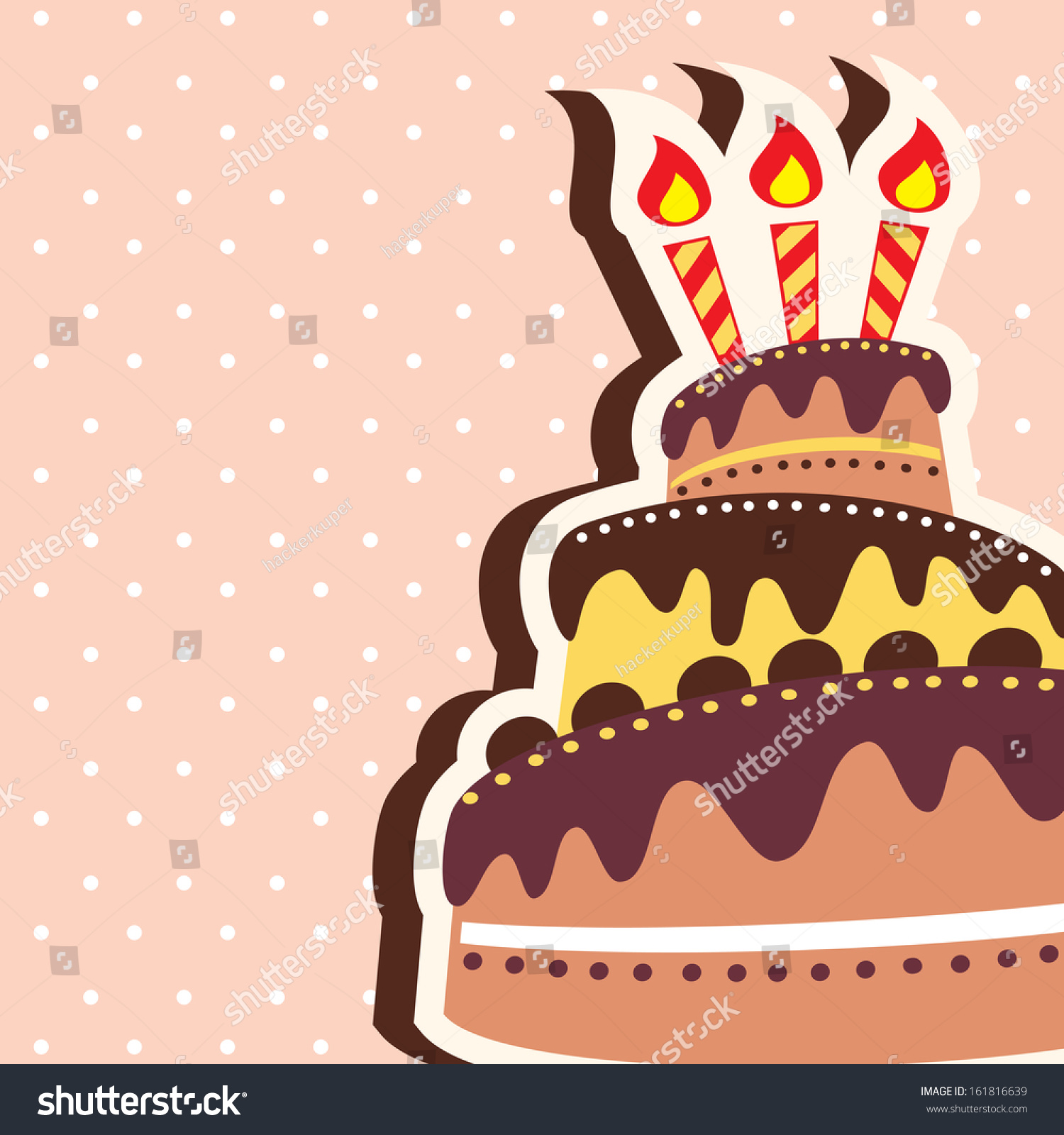 Happy Birthday Chocolate Cake Card Background Illustration – Birthday Cake Card Template