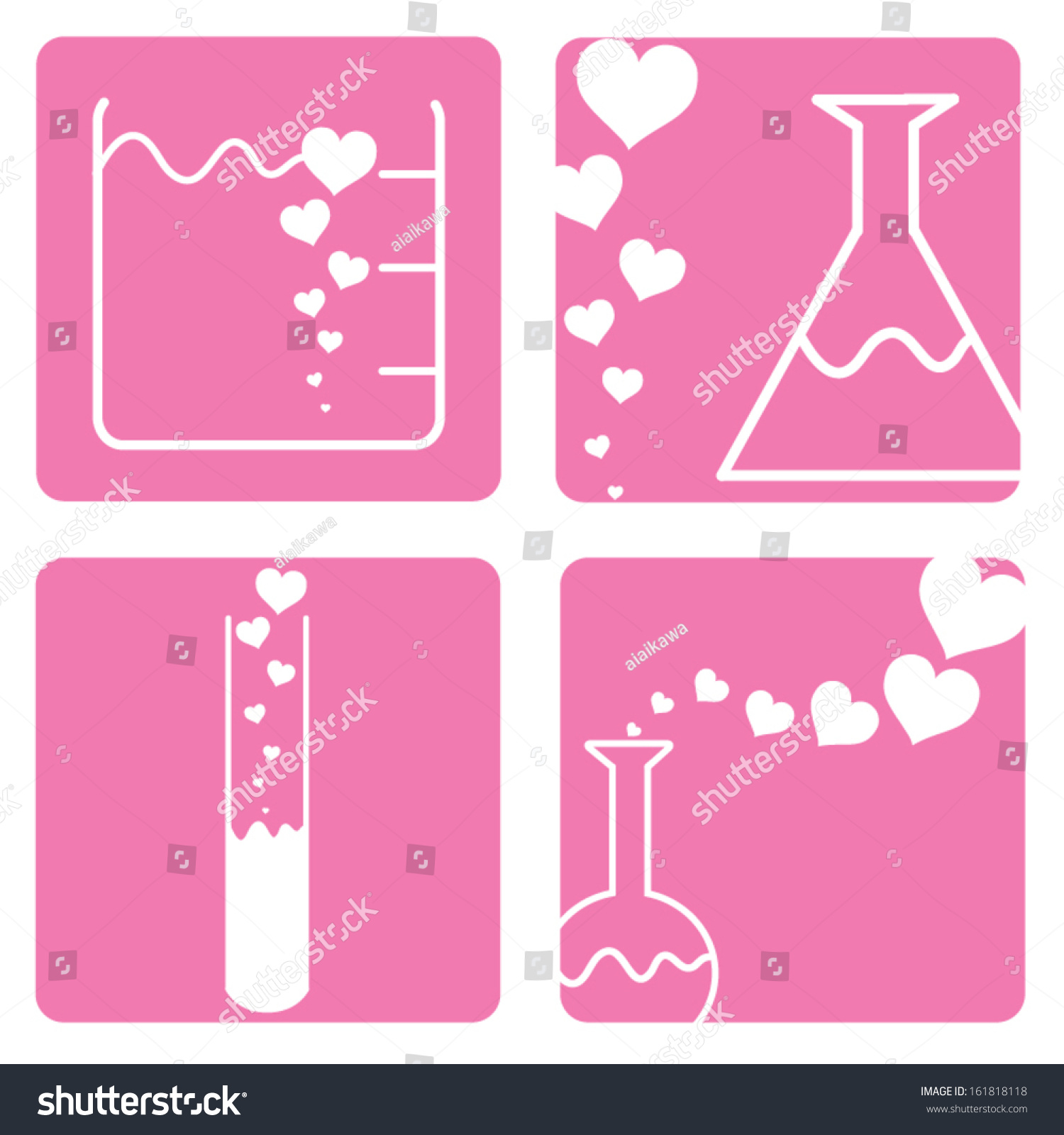 225ed8b4a5eb Chemistry Laboratory Love Concept Flat Icon Stock Vector (Royalty ...