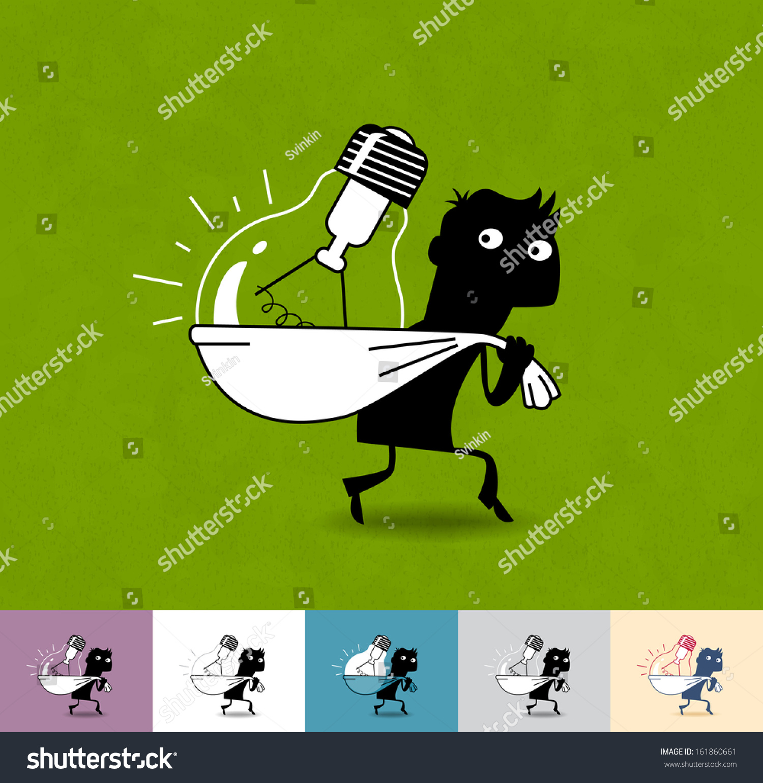 Stolen Idea Business Illustration Eps 10 Stock Vector