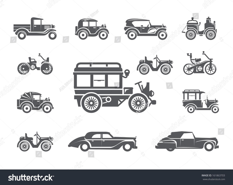 Значка для ретро автомобили 6