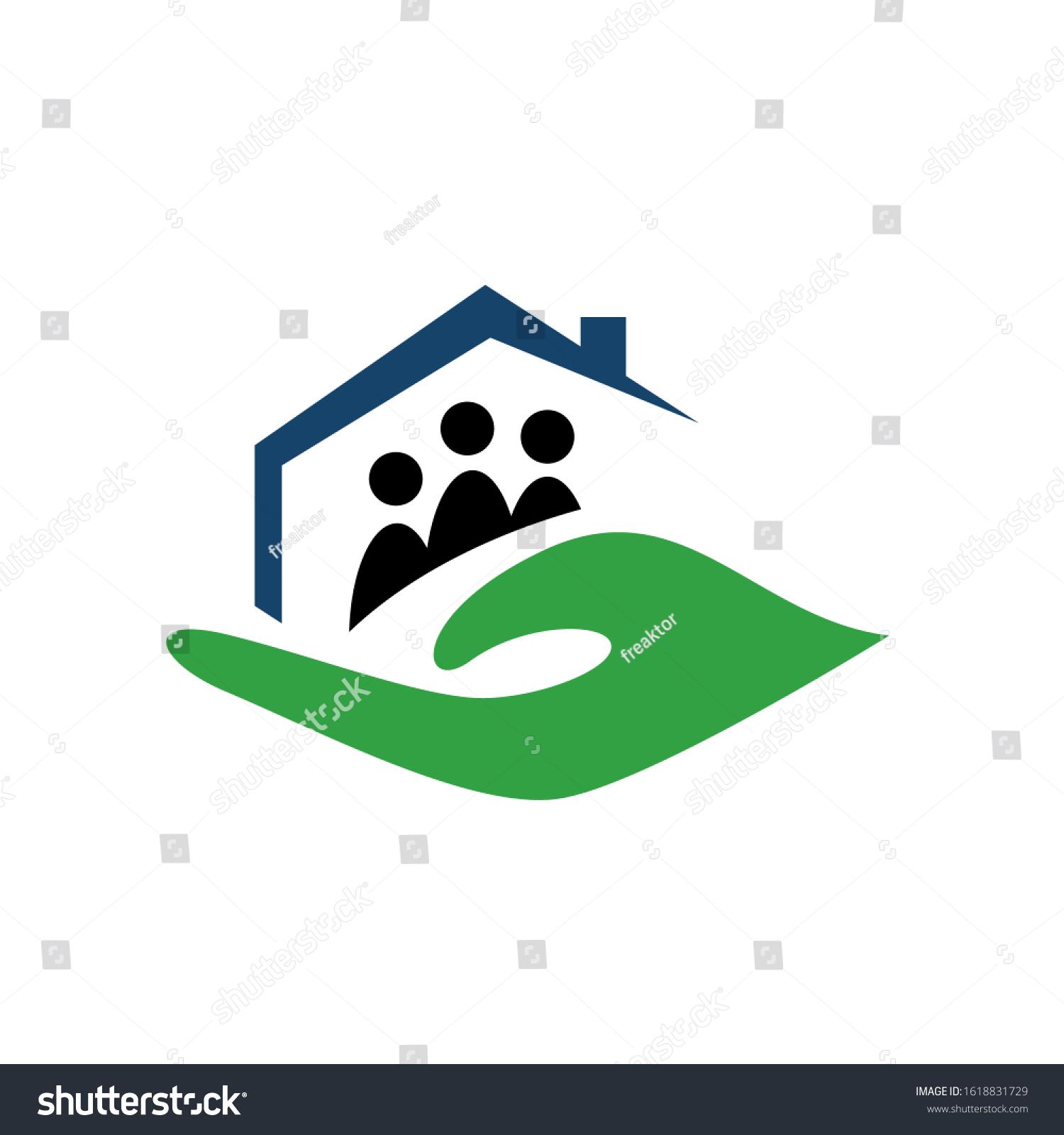 Nursing Home Care Logo Design Vector Stock Vector Royalty Free 1618831729