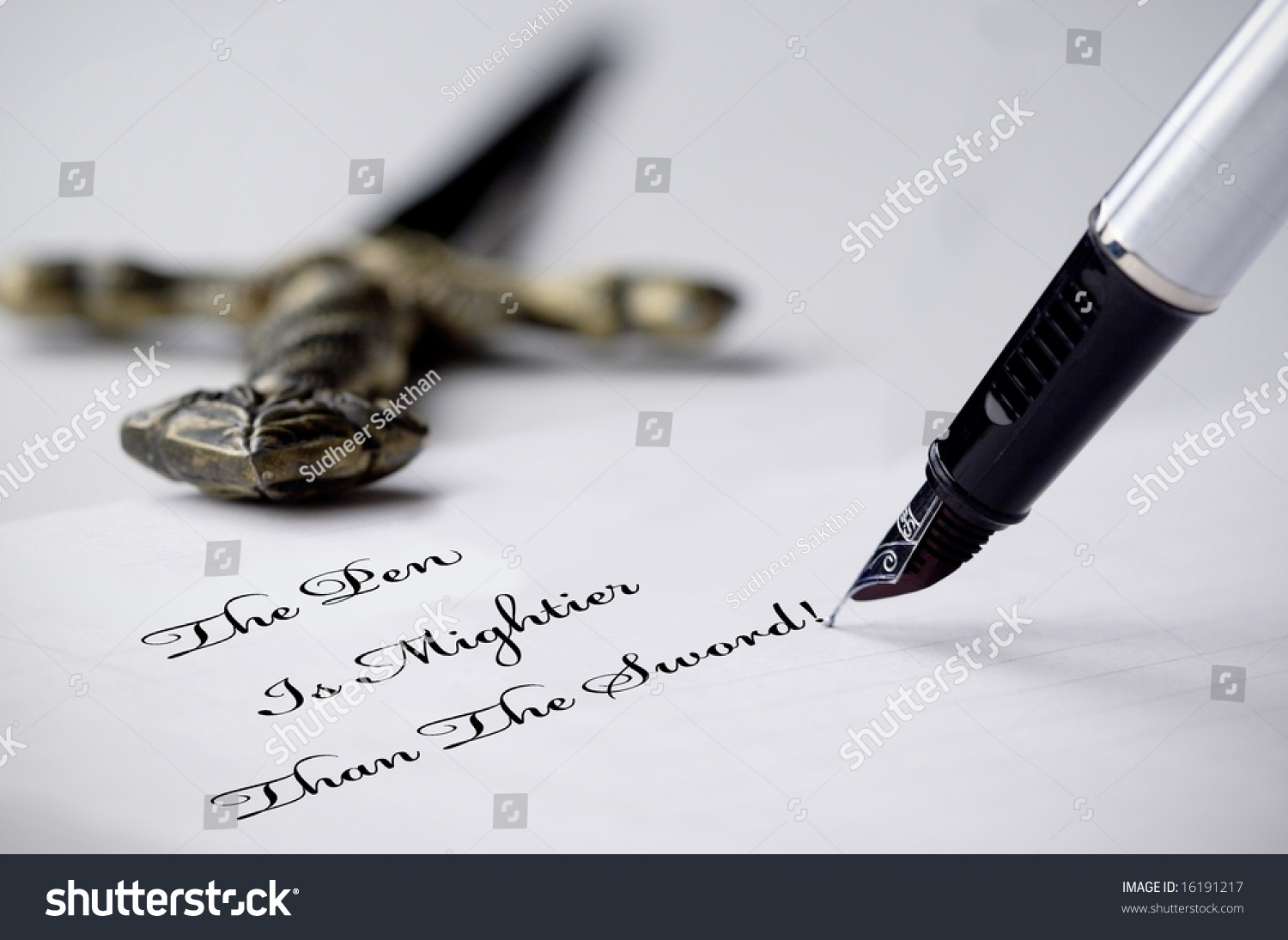 an essay on pen is mightier than sword