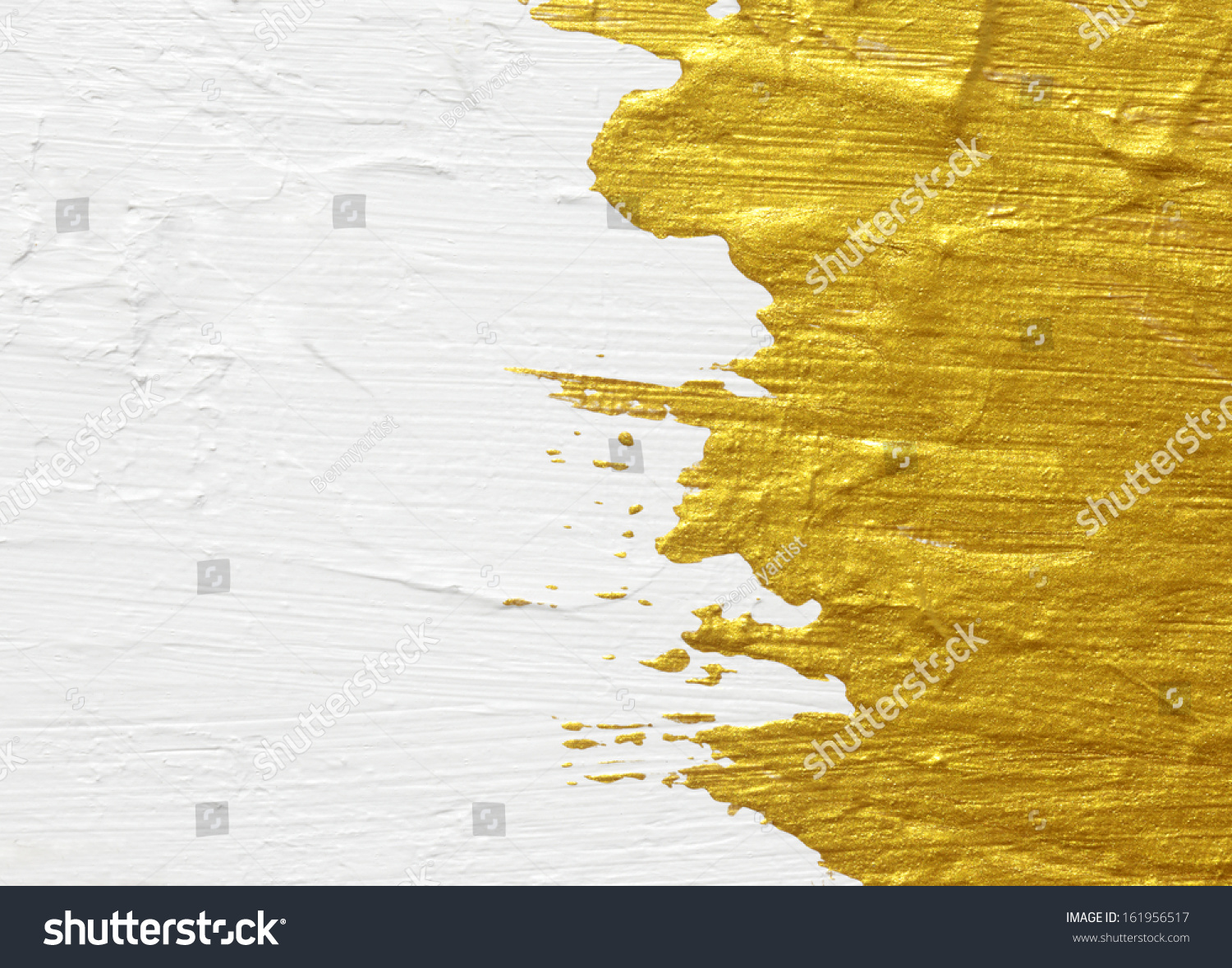 White Gold Acrylic Textured Painting Background Stock Photo ...