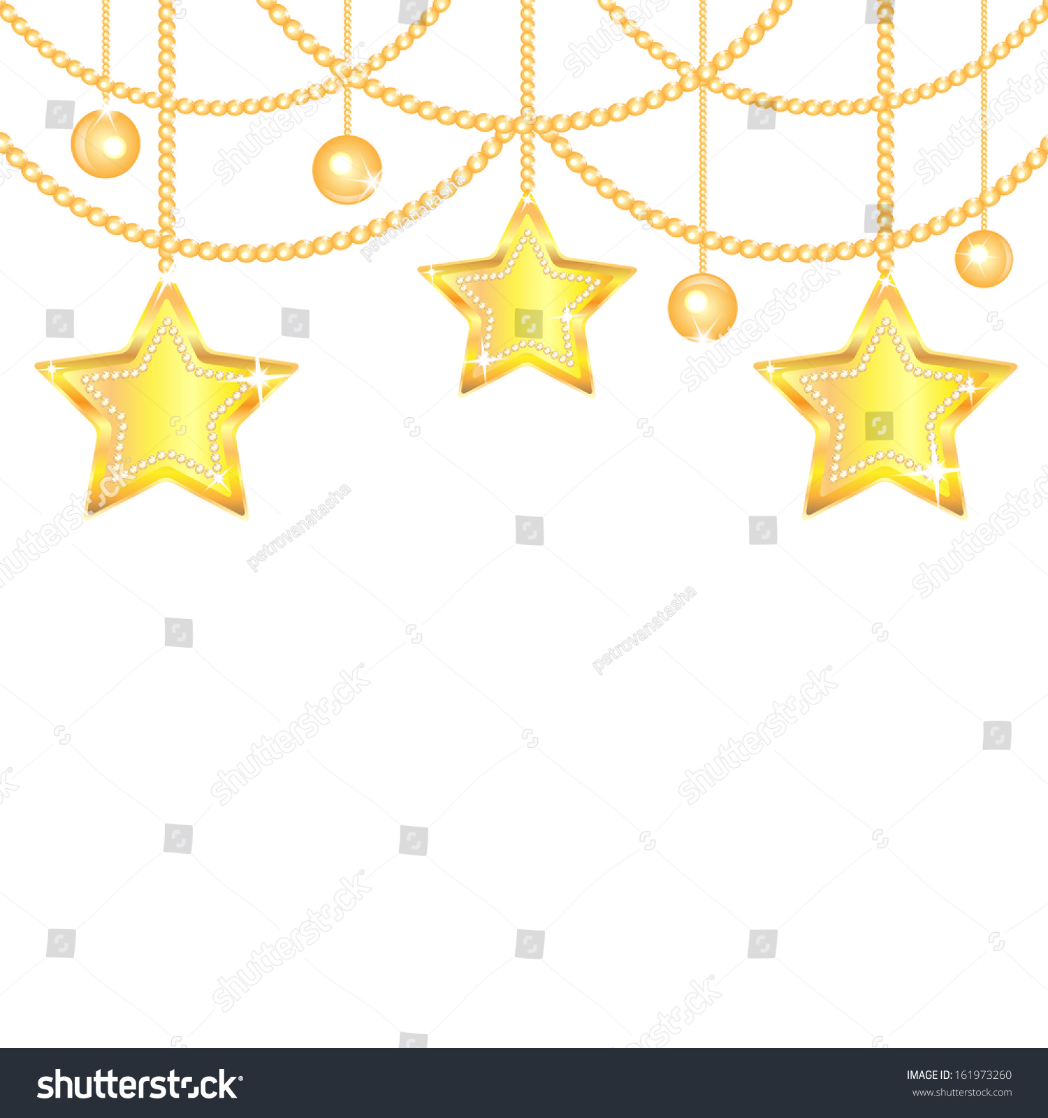 Gold star ornaments - Christmas Background Gold Stars And Balls Isolated On White Background New Year Golden Ornaments