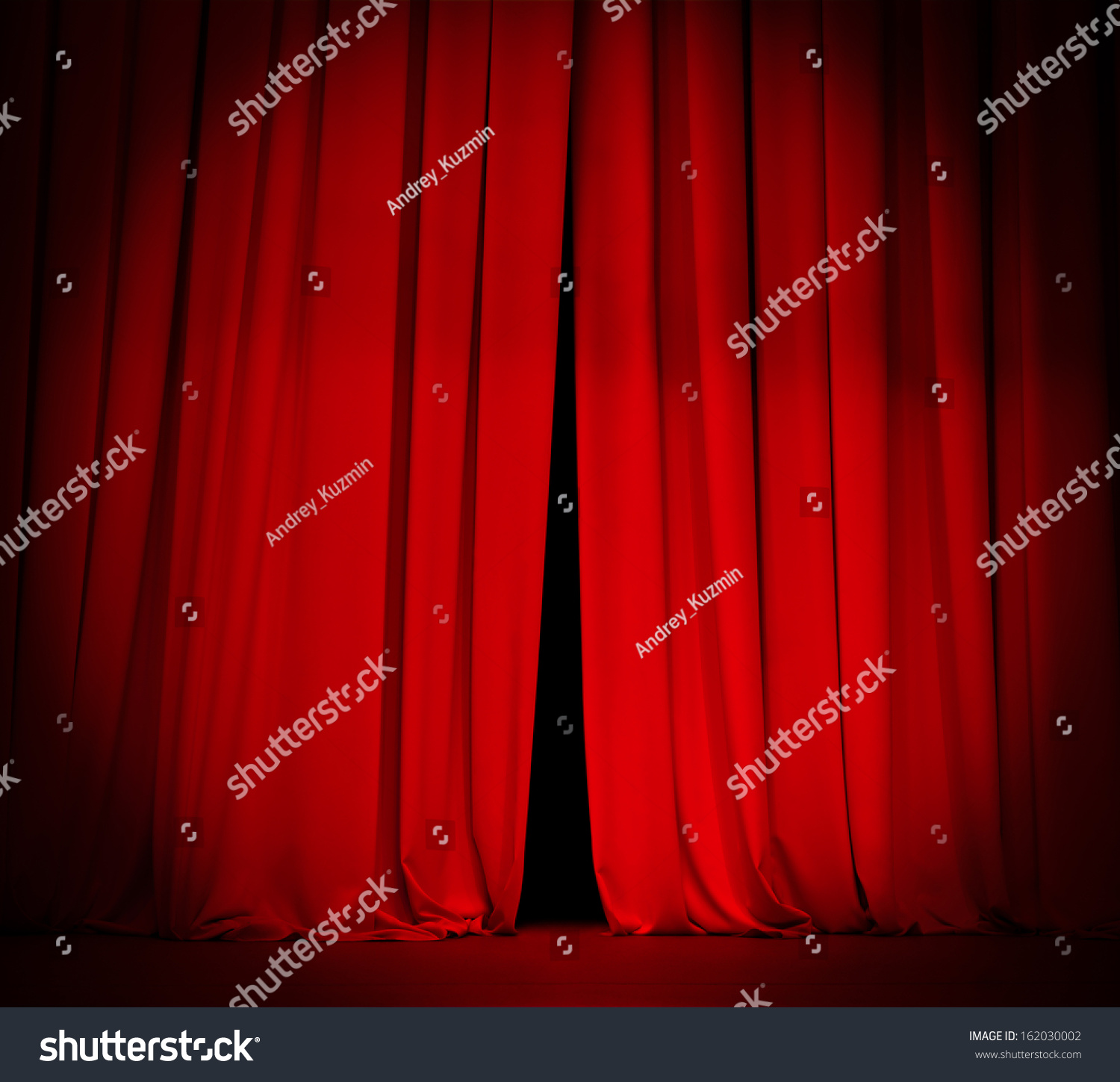 Red curtain spotlight - Theater Stage Red Curtain With Spotlight Background