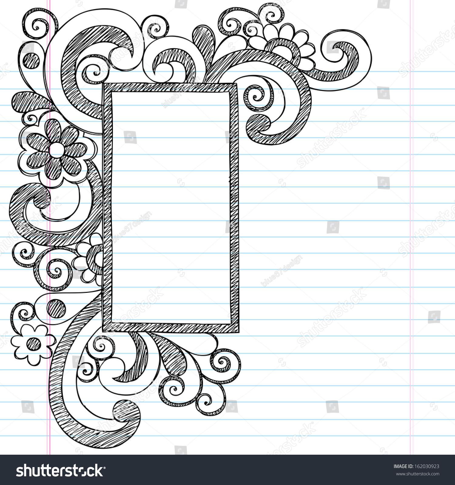Rectangle Picture Frame Border Back School Stock-Vektorgrafik ...