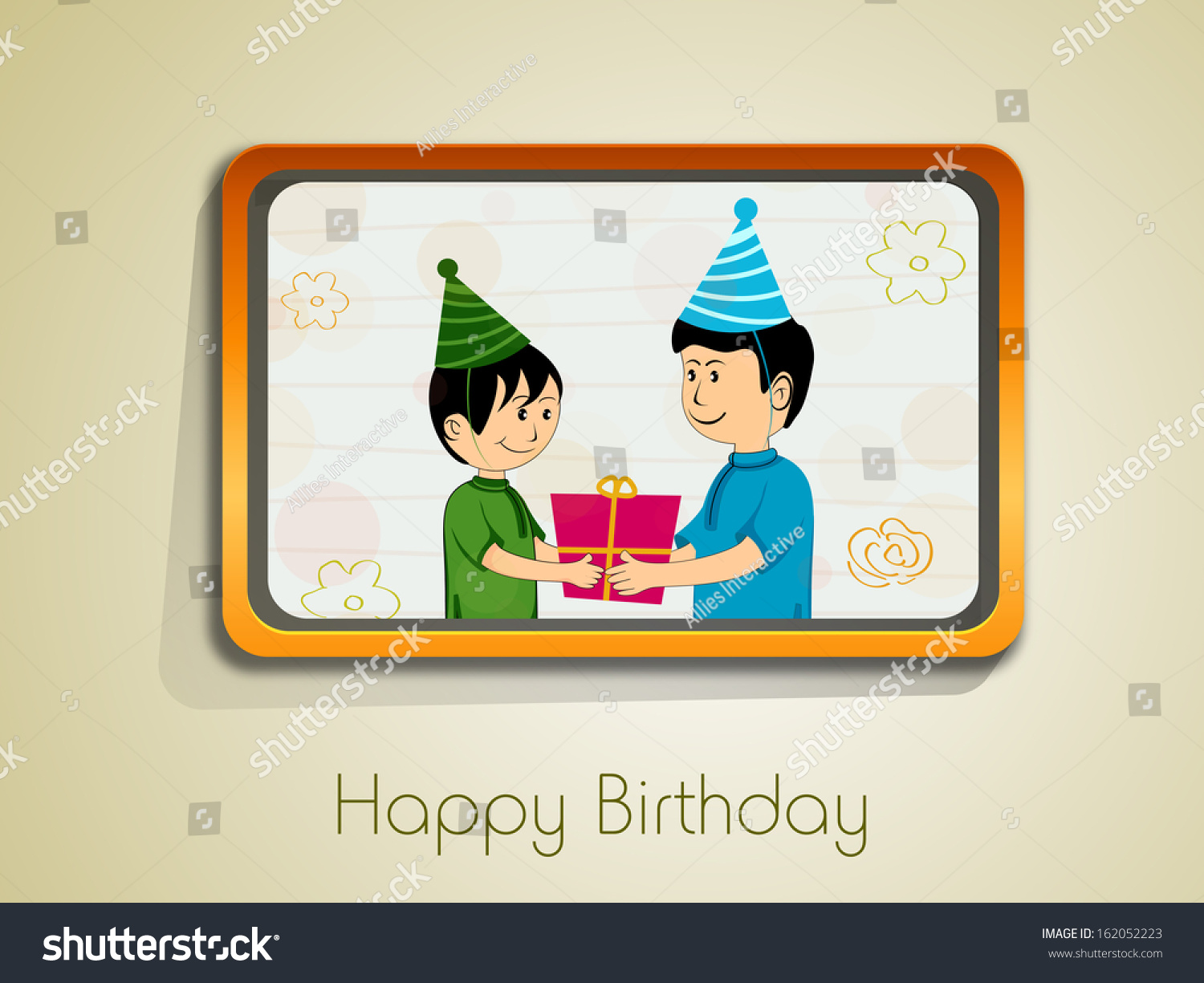 Happy Birthday Greeting Cards Gift Cards Stock Vector Royalty Free