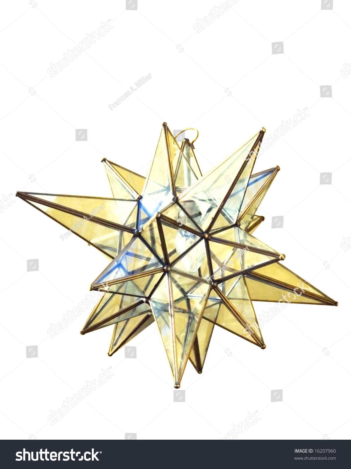 Moravian Star Lamp Christmas Decoration Stock Photo (Edit