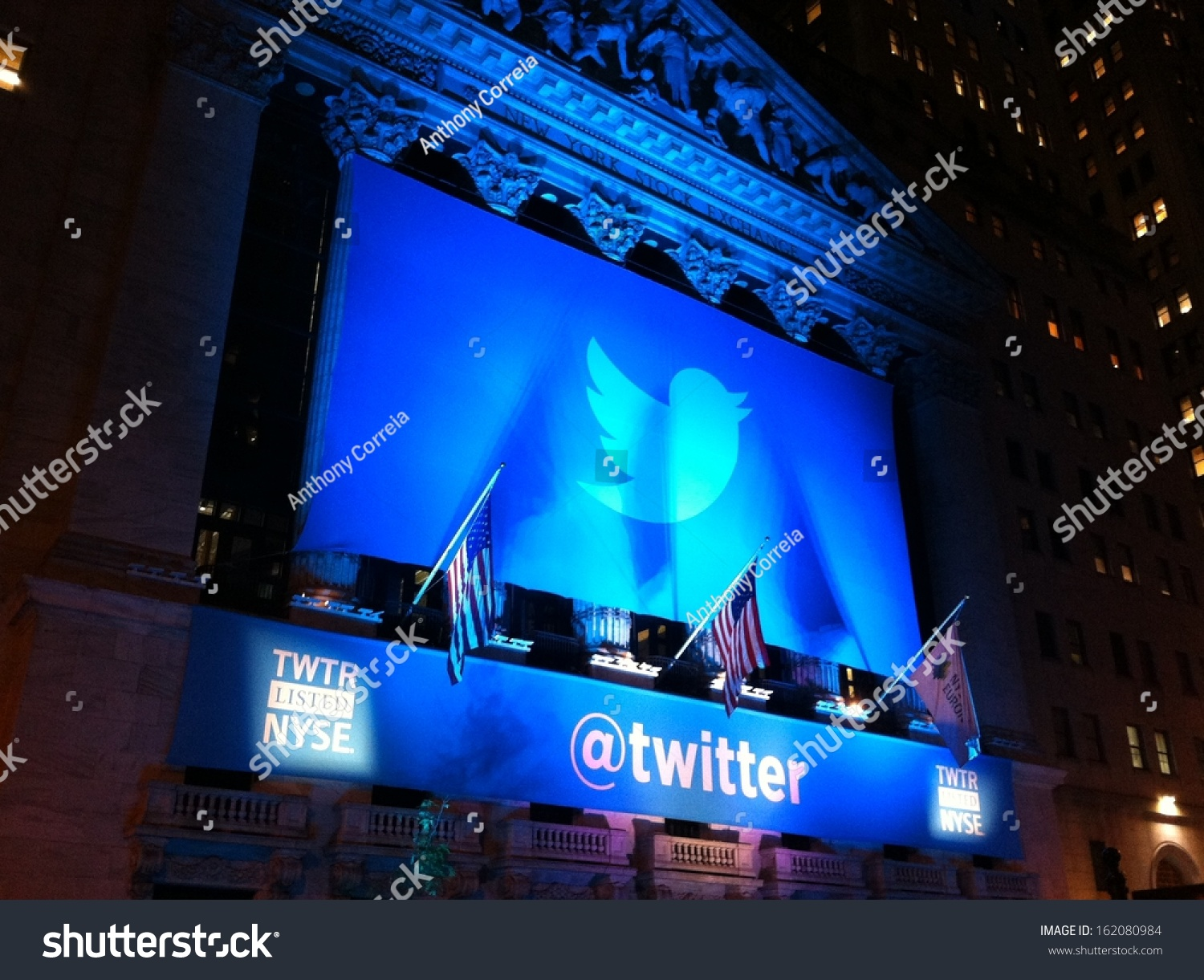 New york november 7 twitter logo stock photo 162080984 shutterstock new york november 7 the twitter logo is shown in front of the nyse buycottarizona