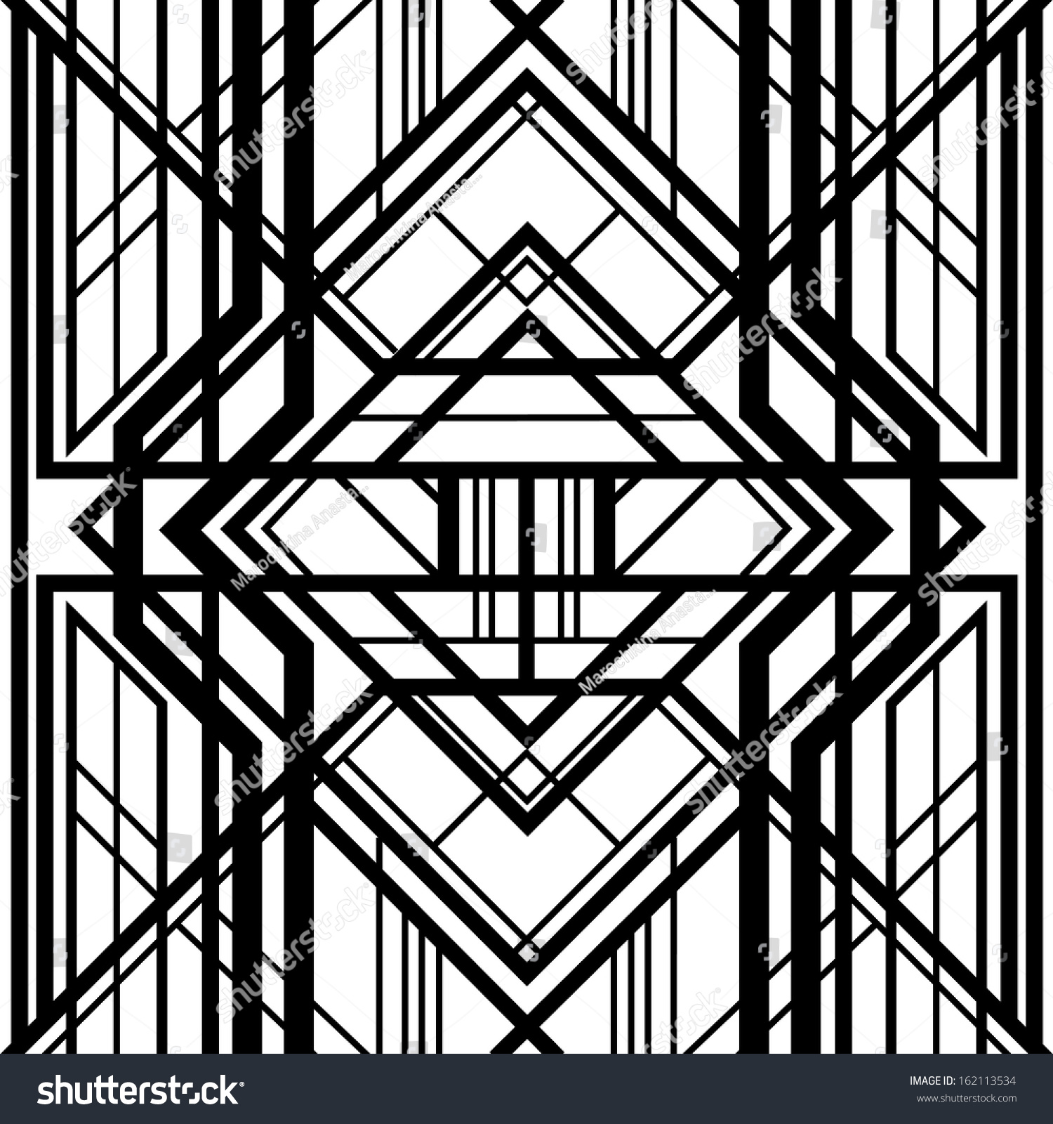 Seamless Pattern Abstract Geometric Background Black Stock Vector 162113534 Shutterstock