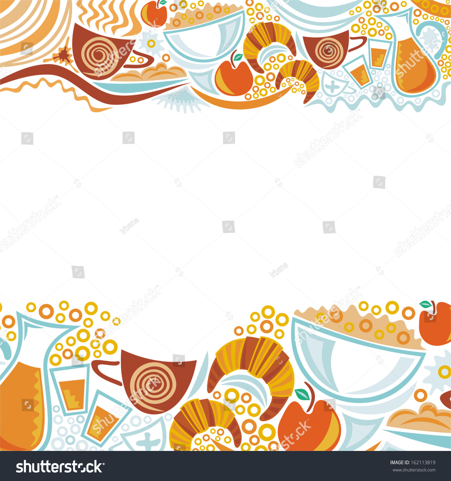 Breakfast Menu Border Healthy breakfast stock vectors & vector clip ...