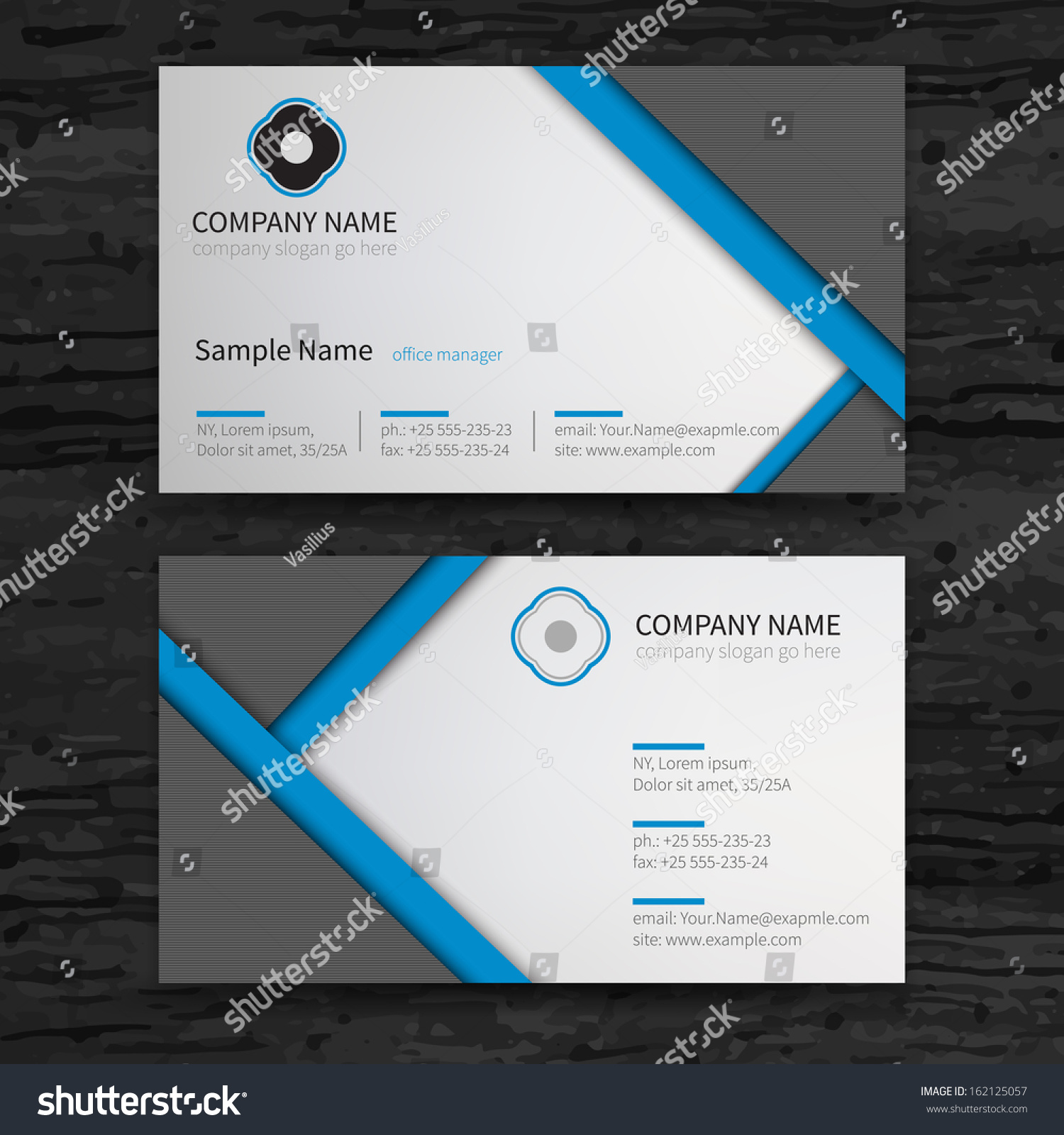 Vetor stock de vector abstract creative business cards set livre de vector abstract creative business cards set template reheart Image collections