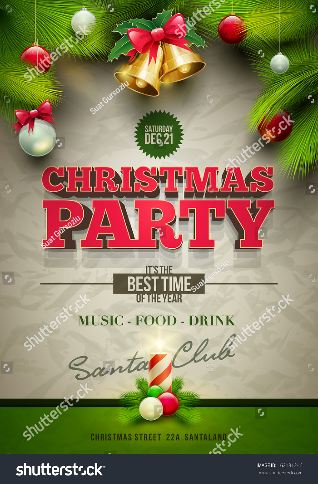 vector christmas party design template elements are layered save to a lightbox
