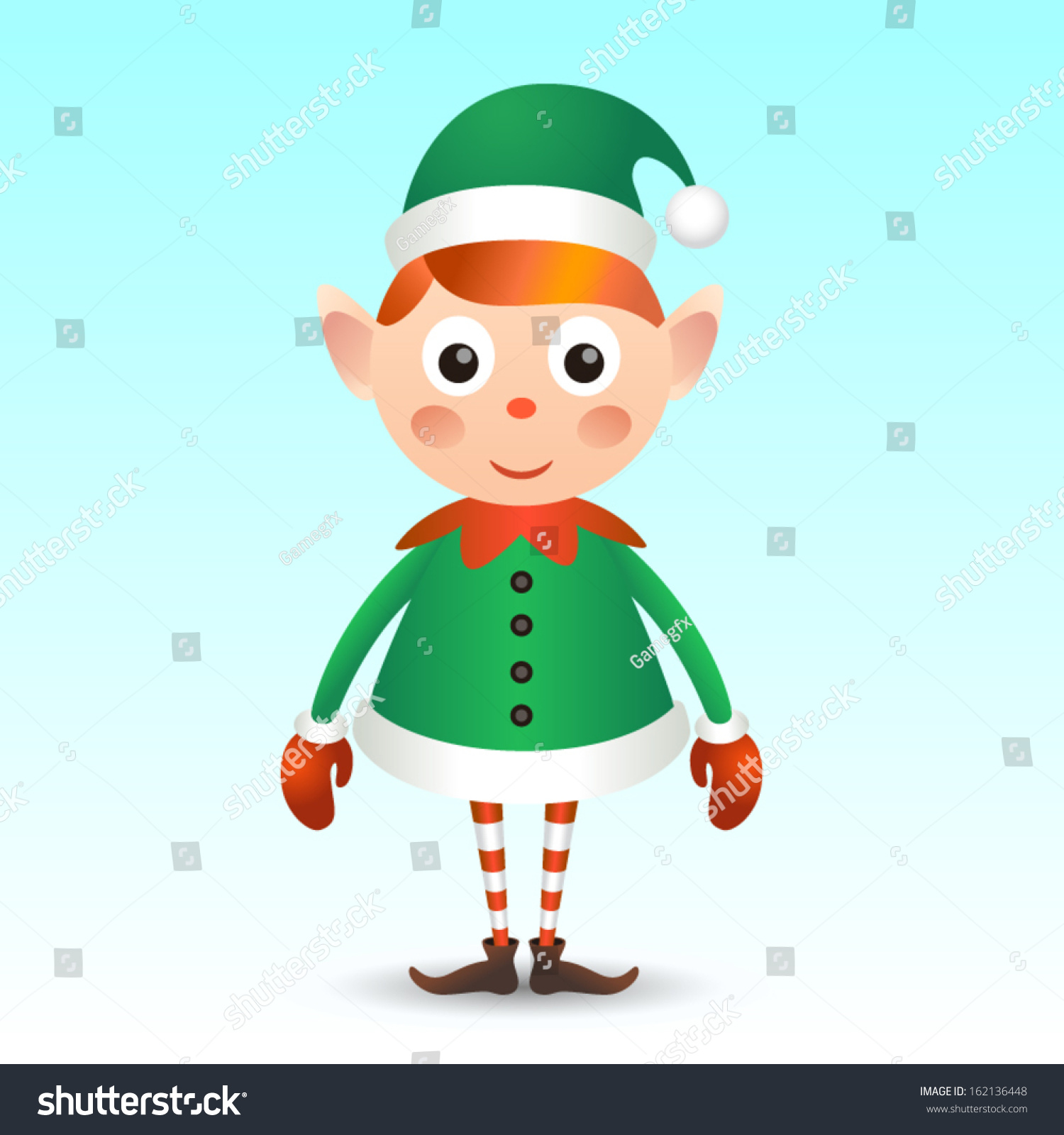 christmas elf stock vector 162136448 shutterstock