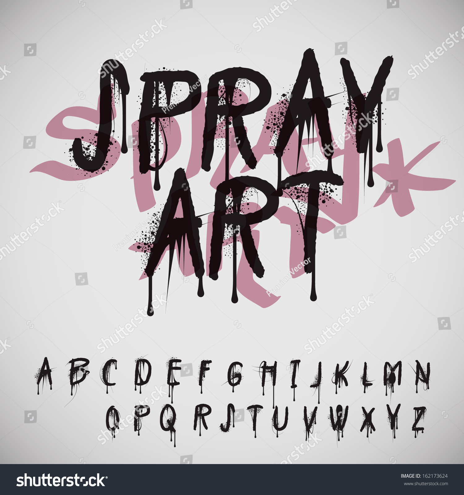 Graffiti Splash Alphabet Vector Image 162173624