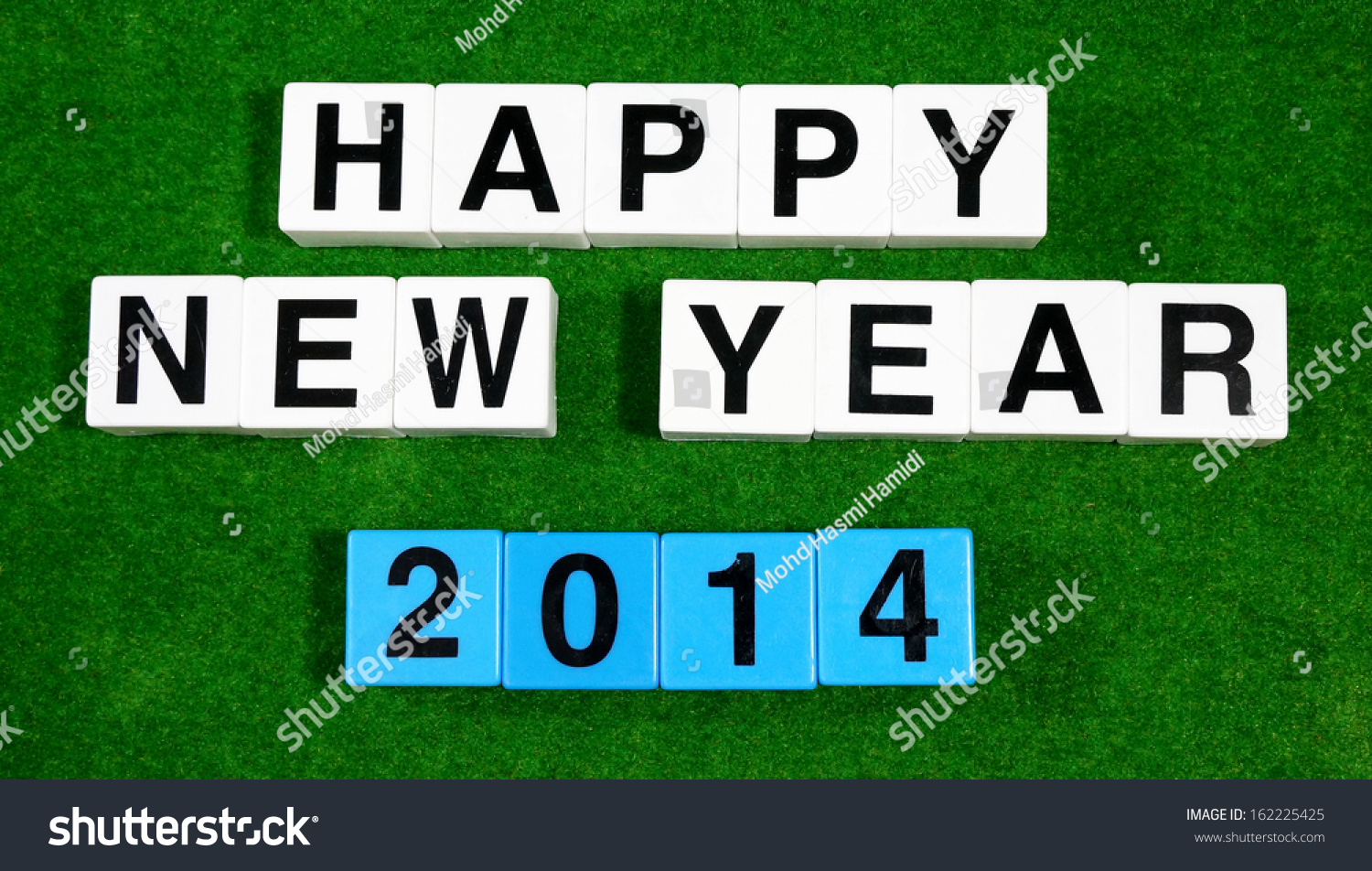 Happy New Year 2014 Words With Block Letters Stock Photo ...