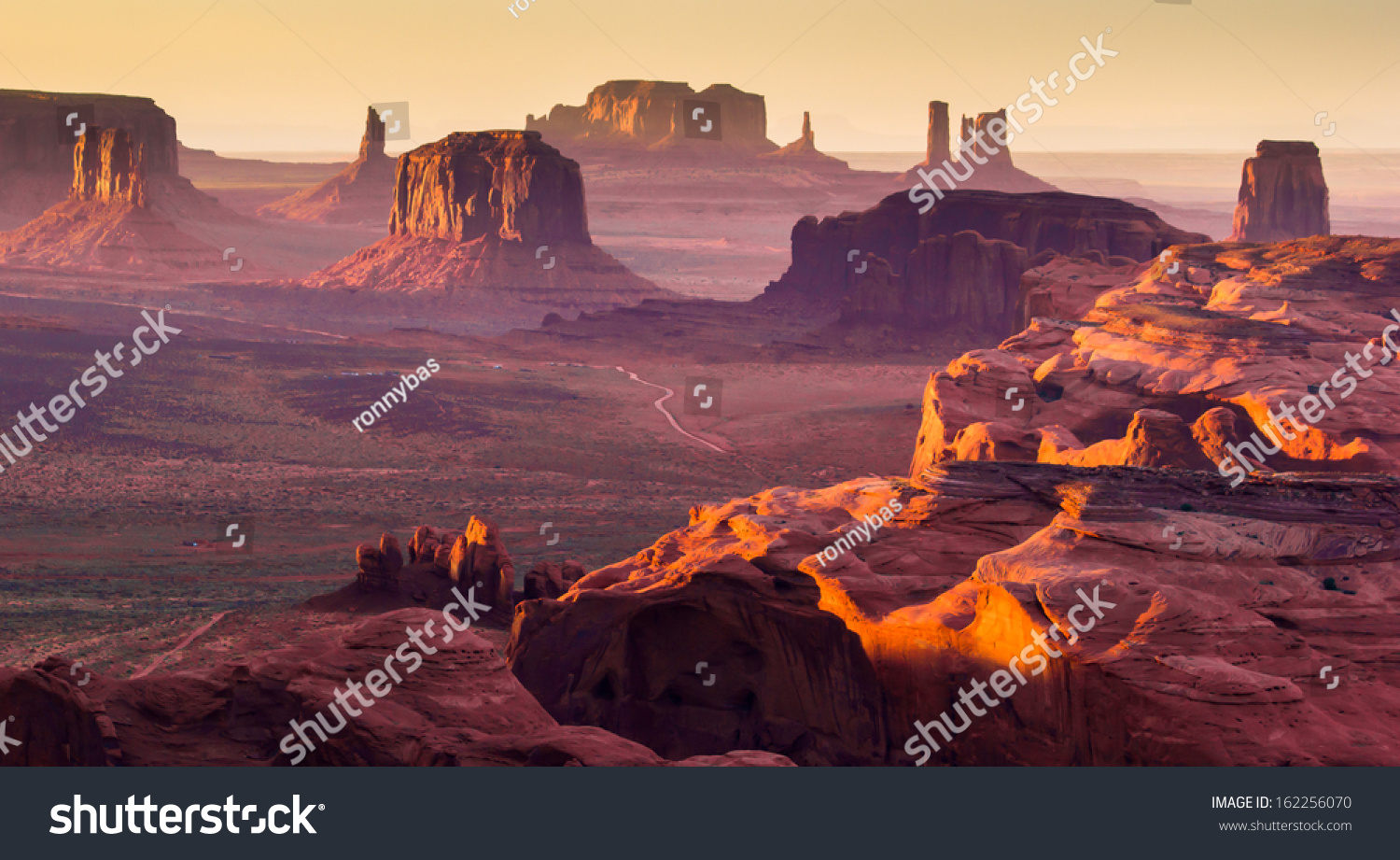 Monument Valley, desert canyon in USA #162256070