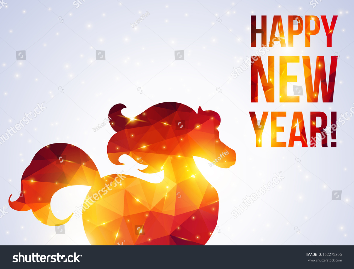 Happy new year 2014 greeting card stock vector 2018 162275306 happy new year 2014 greeting card year of horse vector illustration red horses m4hsunfo