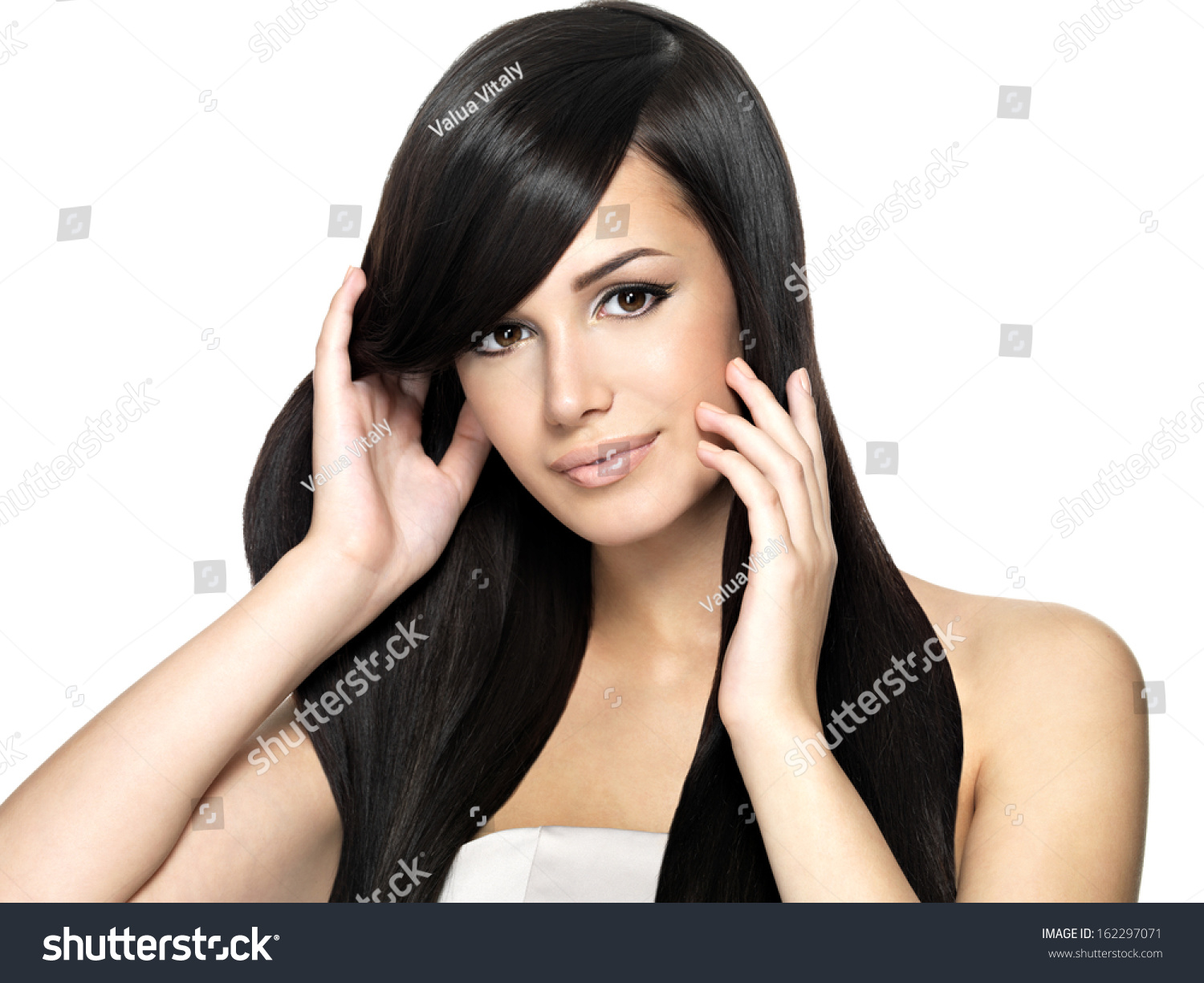 Wondrous Woman With Beauty Long Straight Hair Pretty Young Girl With Short Hairstyles For Black Women Fulllsitofus