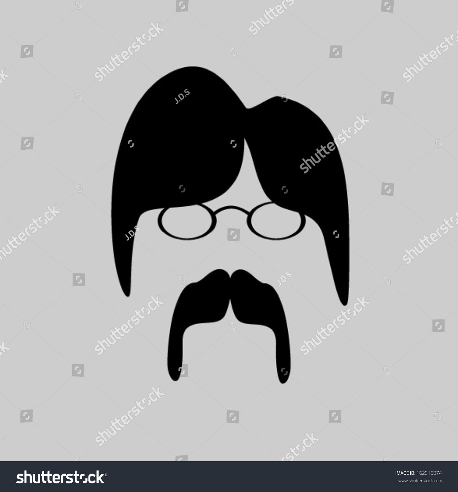 Hippie Nerd Wire Frame Glasses Stock Vector 162315074 - Shutterstock