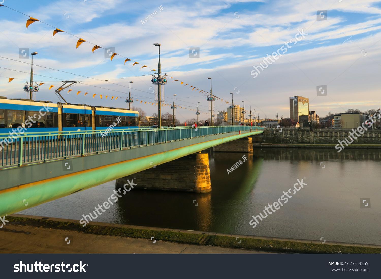 stock-photo-krakow-poland-january-tram-c