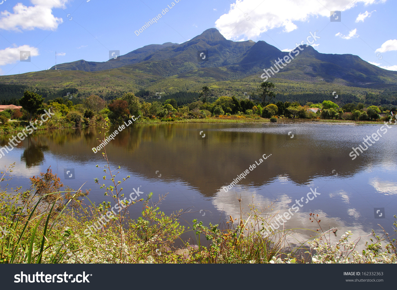 Botanical Gardens George Outeniqua Mountains Background Stock Photo ...
