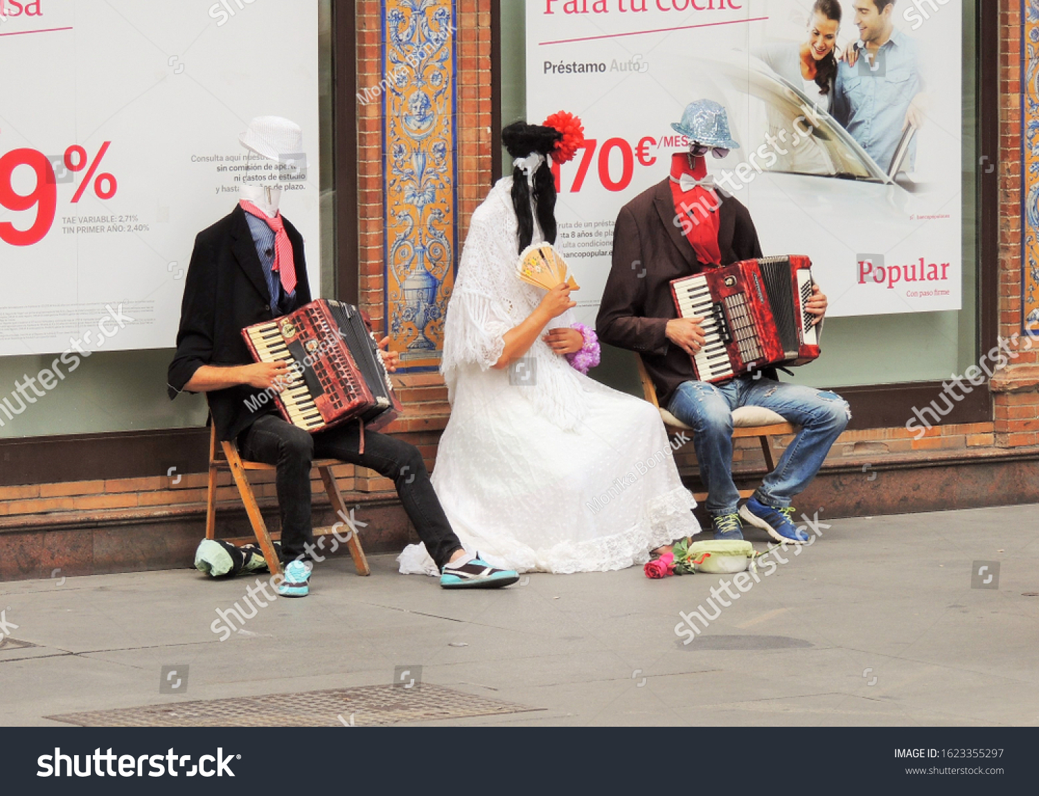 a funny group of performers in Sevilla in June 2015