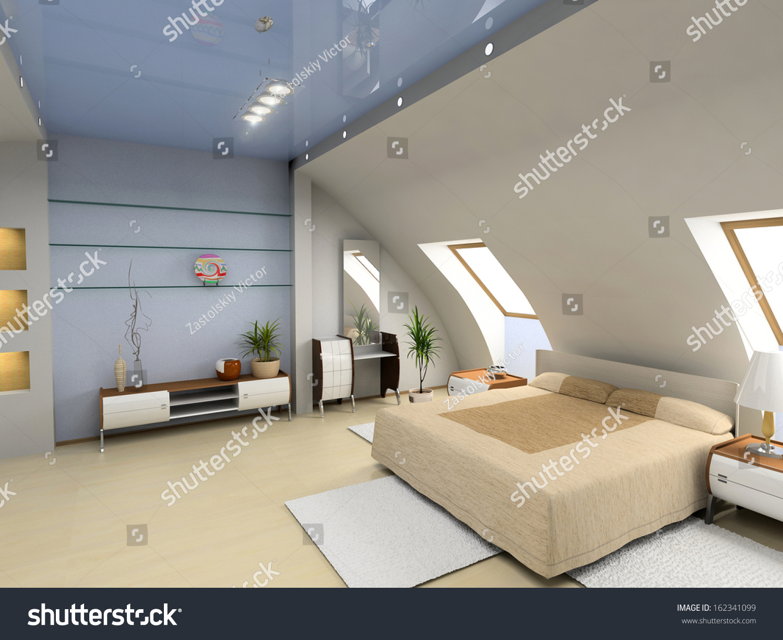 Modern Bedroom Interior Design puter Generated Stock