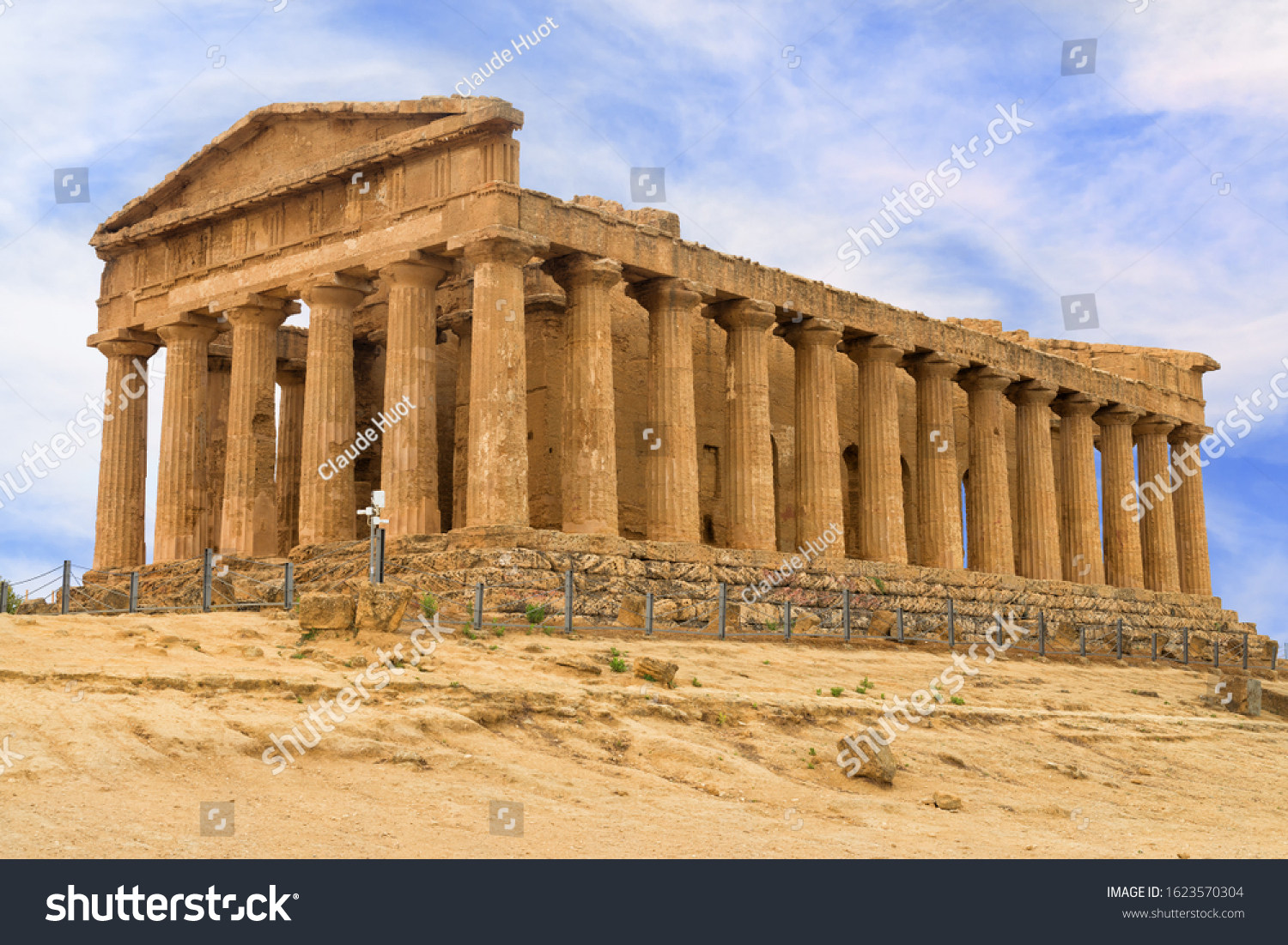 The Temple of Concordia is one of the best preserved in the Valley of the Temples in Agrigento, Sicily, Italy. It was built in the 5th century BC and turned into a church in the 6th century AD.