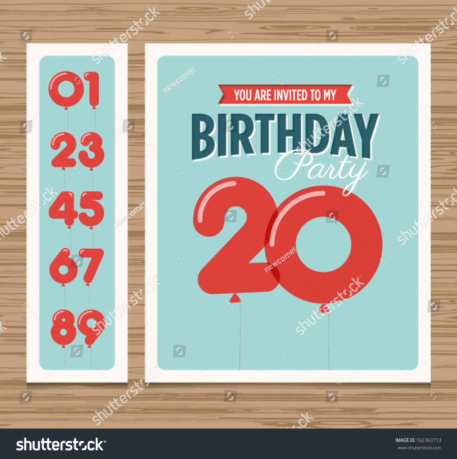 Birthday Party Invitation Card Balloons Numbers Vector – Party Invitation Card Design