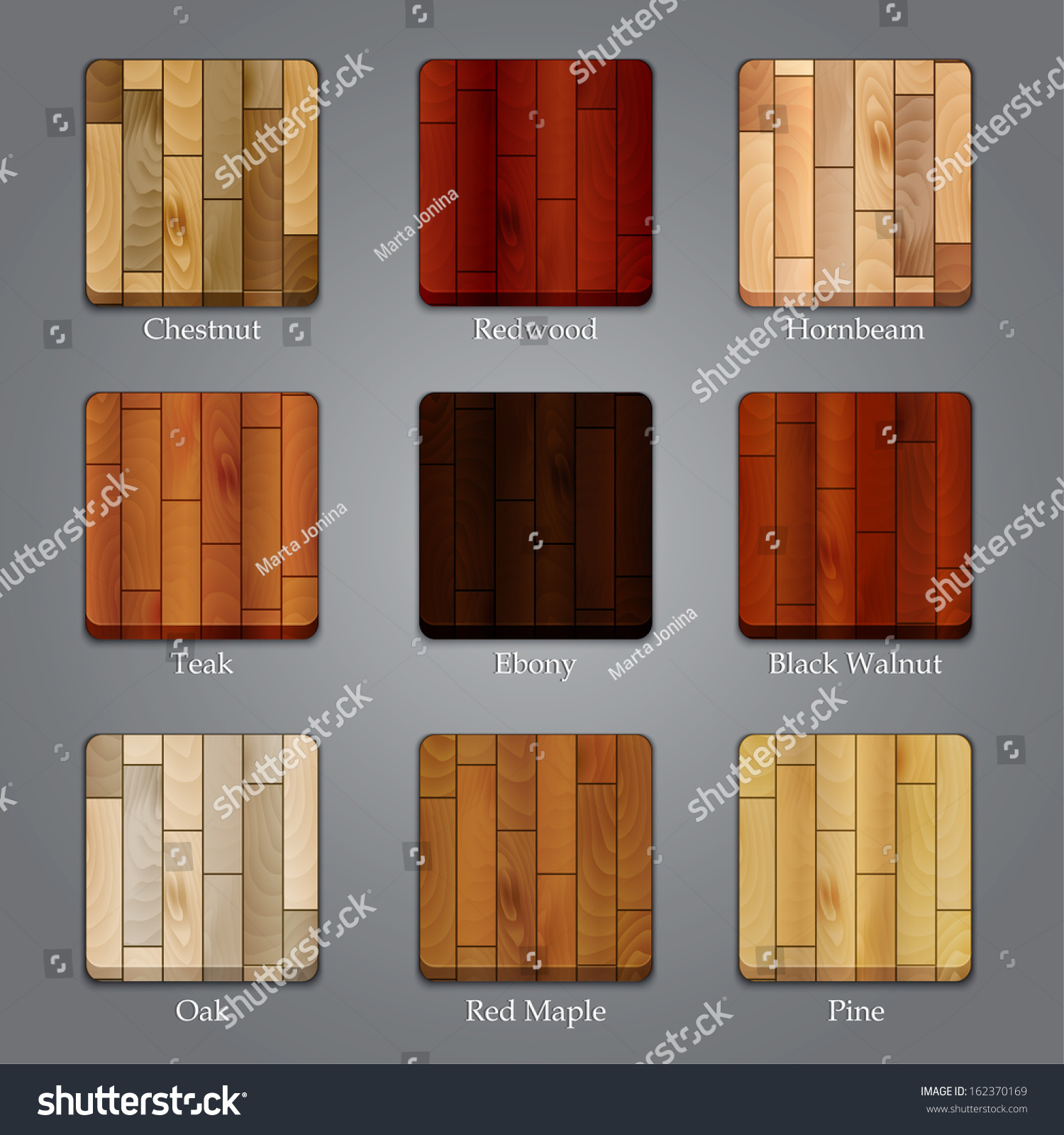 kinds of wood for furniture. Set Of Icons With Different Types Wood Textures. Raster Version Kinds For Furniture