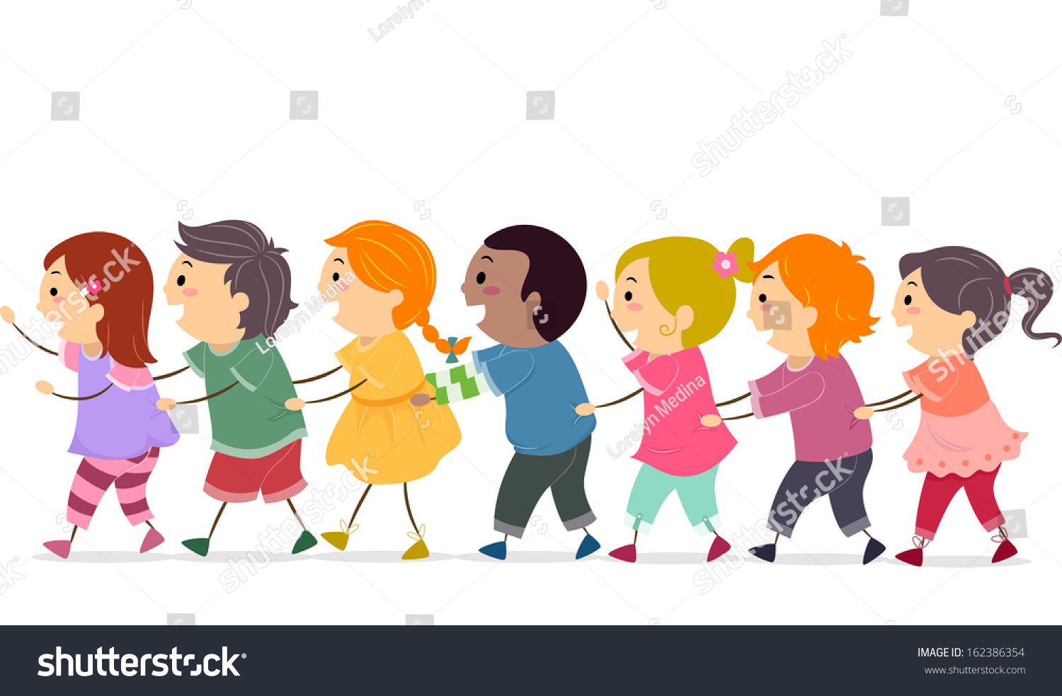 Children Line Up Clipart line dancing stock photos, images, & pictures ...