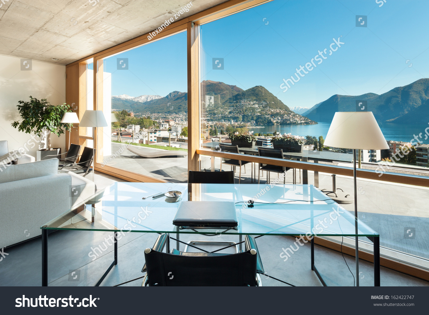 Beautiful Modern House ement Interiors View Stock Photo 162422747 ... - ^