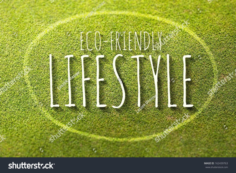 Ecofriendly Lifestyle Poster Illustration Natural Life Stock ...