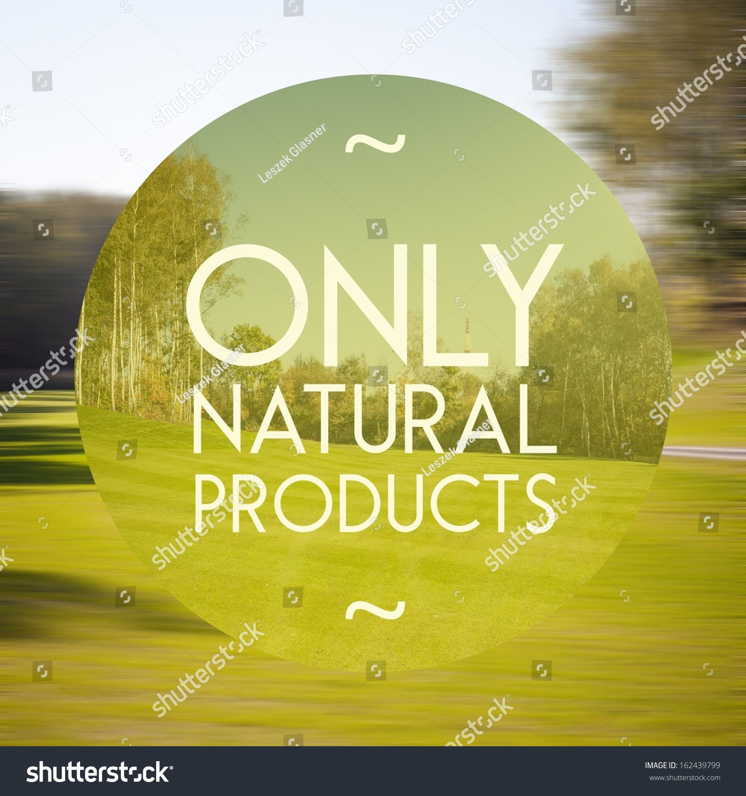 Only Natural Products Poster Illustration Nature Stock ...