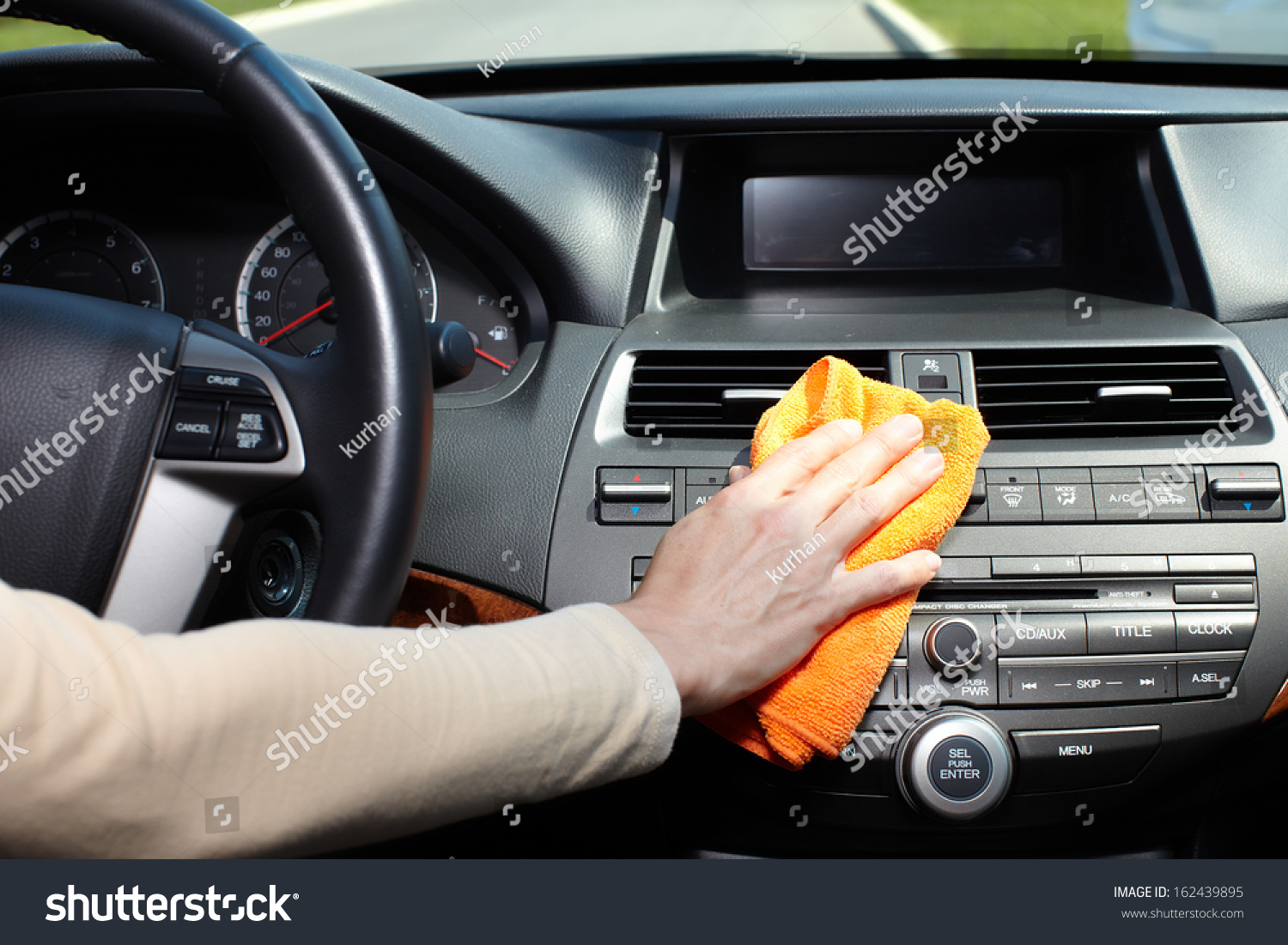 hand microfiber cloth cleaning car stock photo 162439895. Black Bedroom Furniture Sets. Home Design Ideas