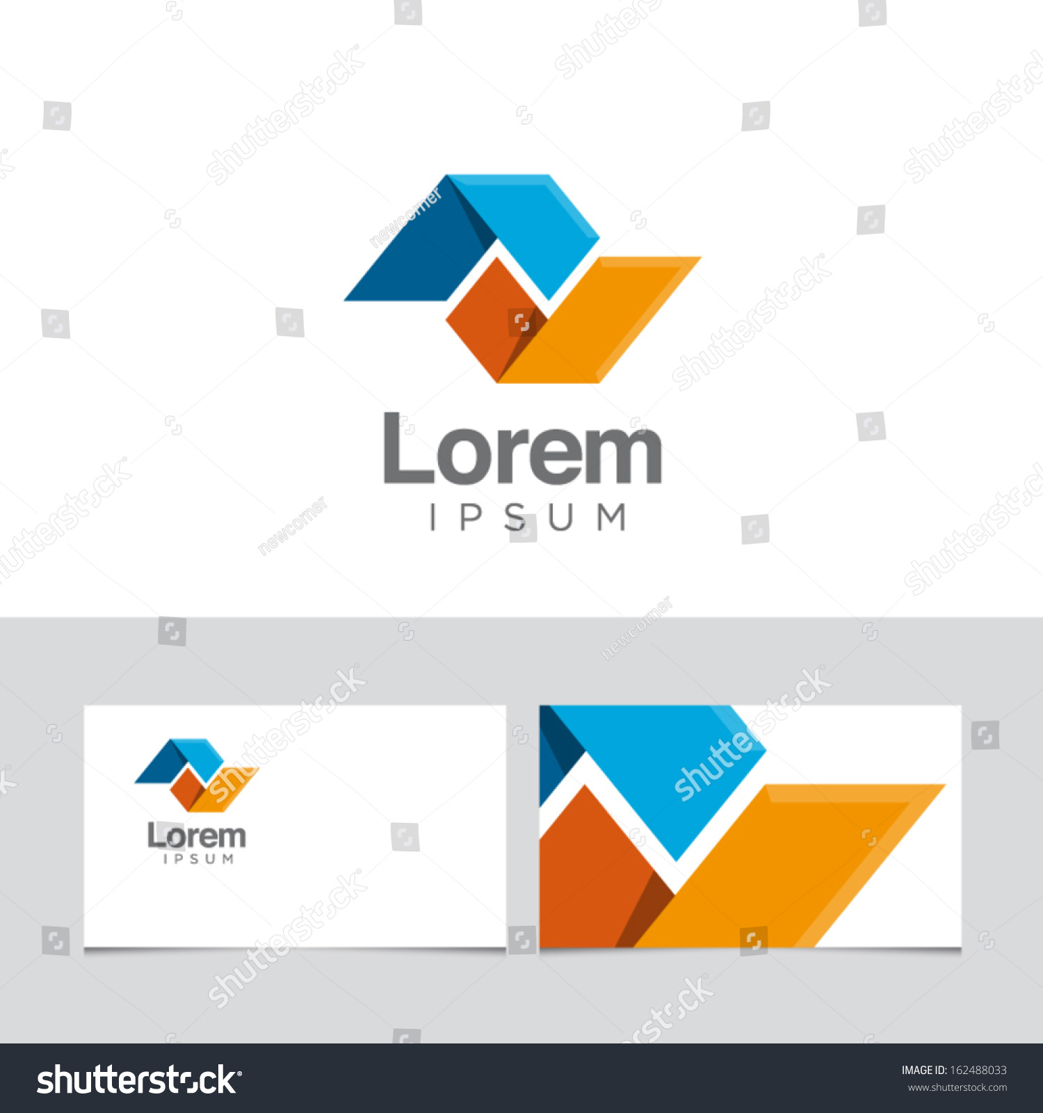 icon design element business card template stock vector 162488033 shutterstock. Black Bedroom Furniture Sets. Home Design Ideas