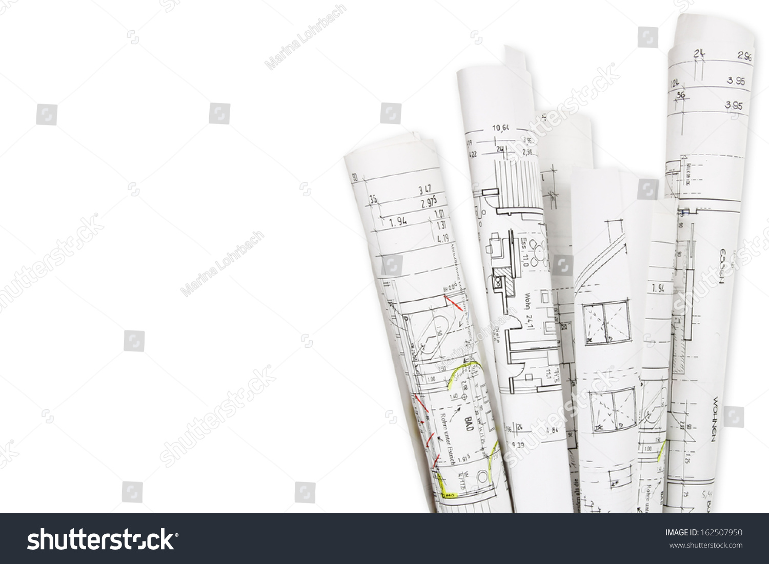 House building building plans stock photo 162507950 for Stock house plans